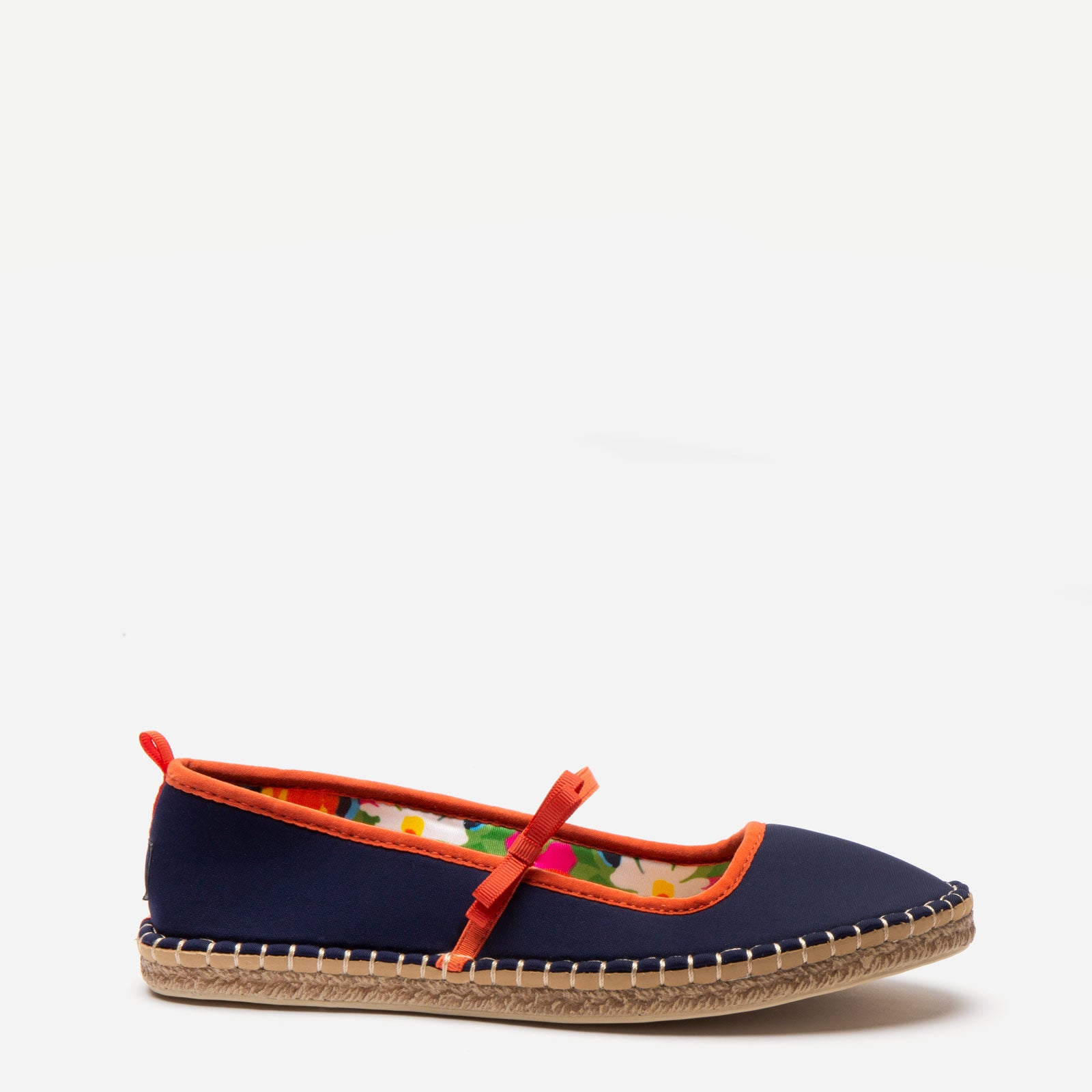 Sea Star Mary Jane Navy Bright Floral