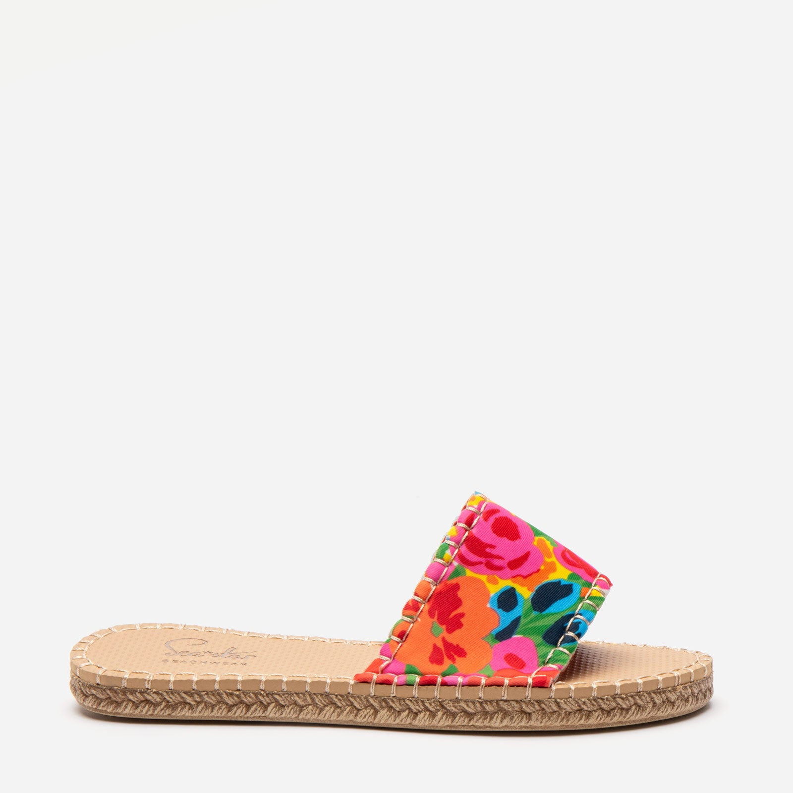 Sea Star Cabana Slide Bright Floral - Frances Valentine