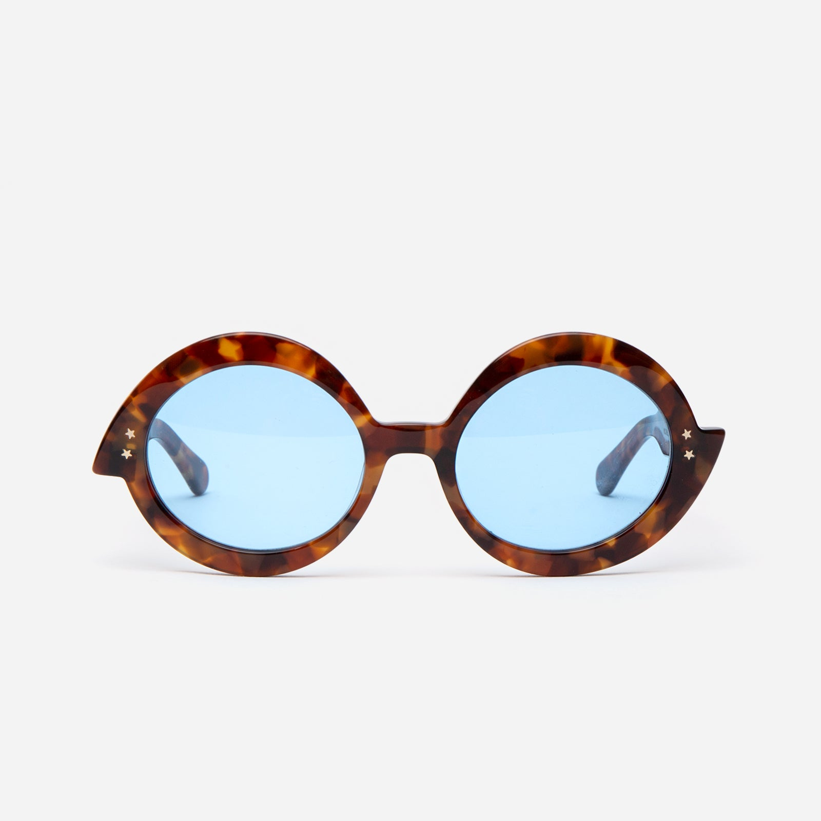 Michelle Sunglasses Tortoise/Blue - Frances Valentine