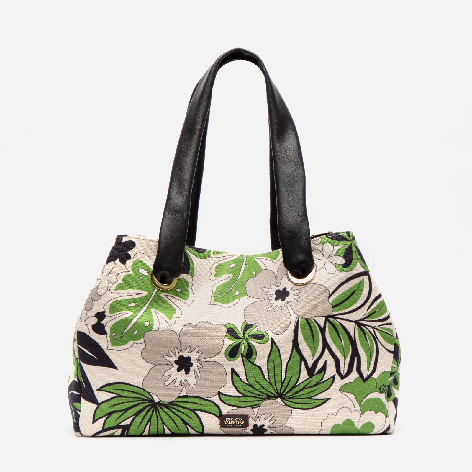 Selma Tote Bag Merida Leaf Canvas - Frances Valentine