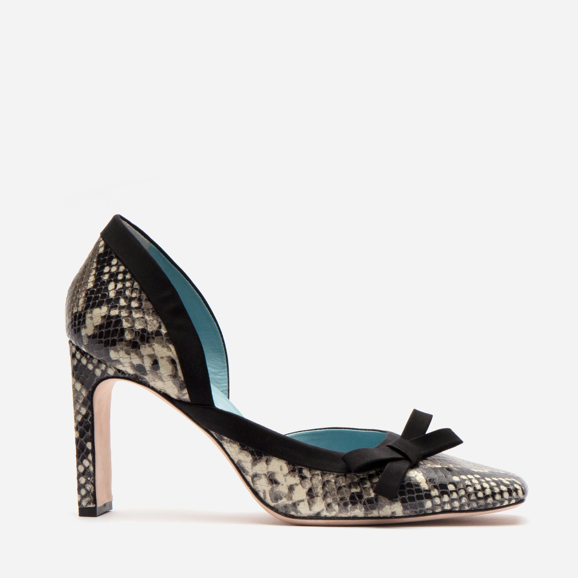 Sinclair Leather Heels Roccia Snake Black