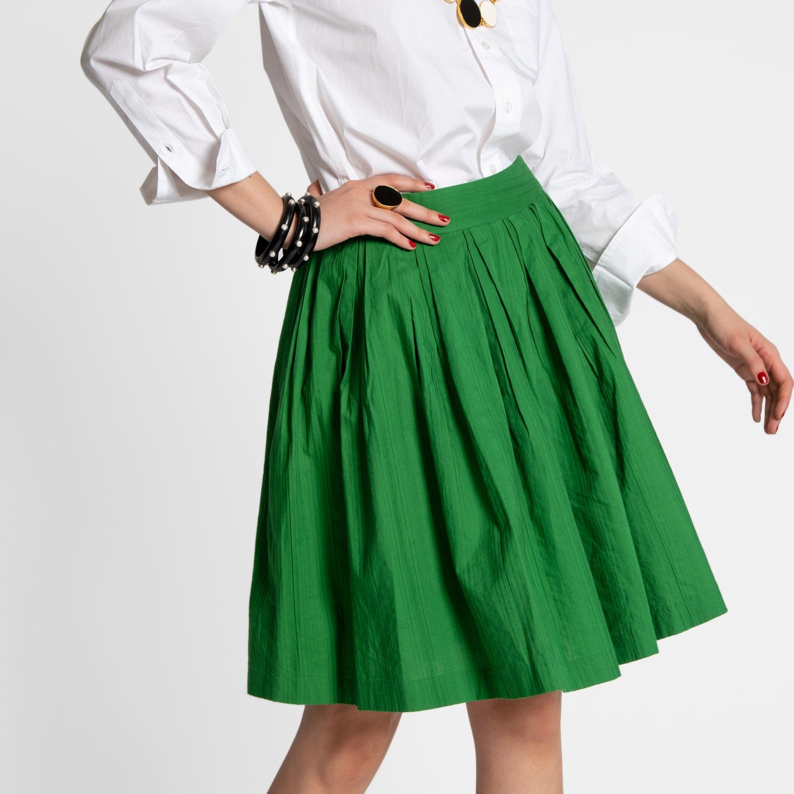 Claire Skirt Green - Frances Valentine