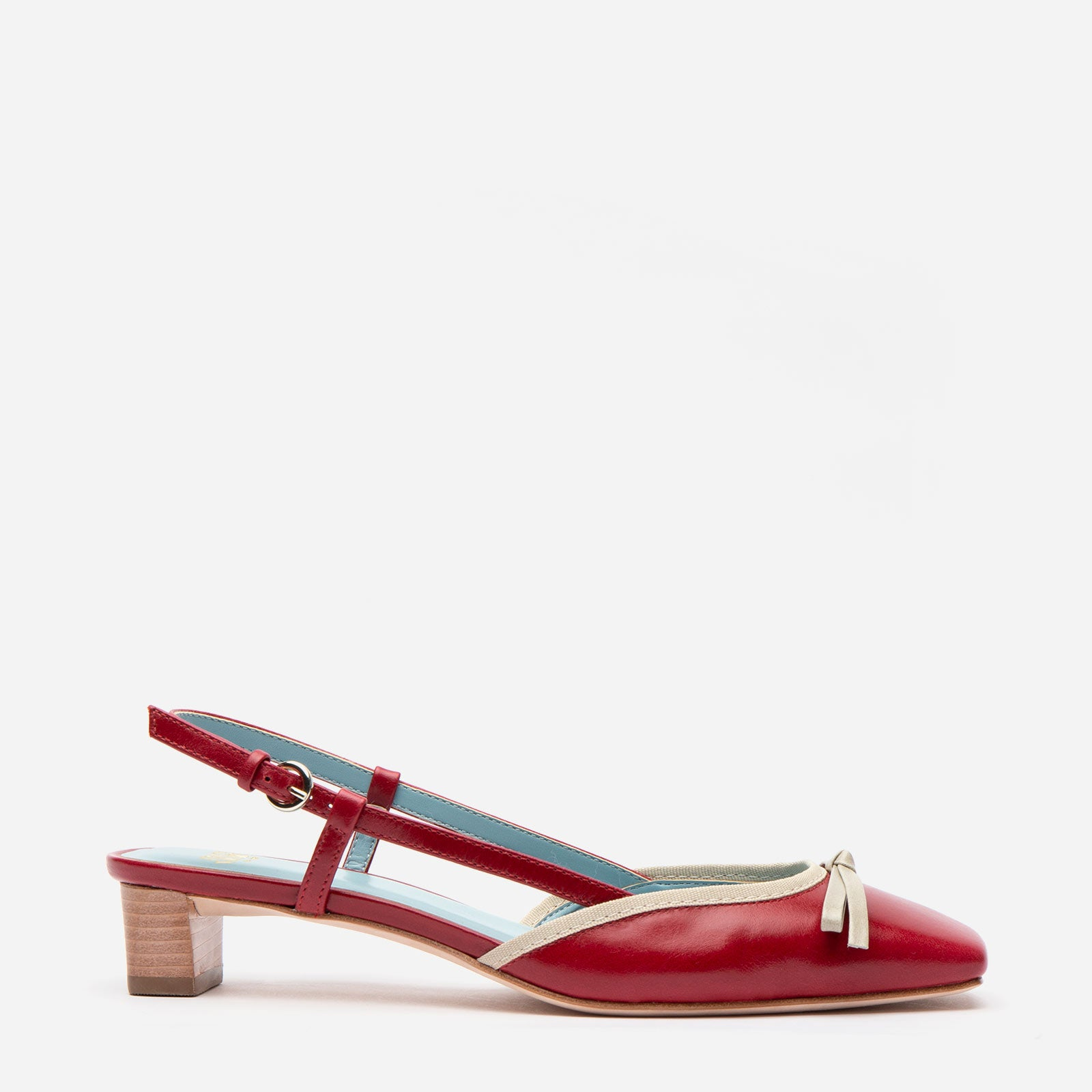 Marion Mini Block Heel Slingback Red Oyster