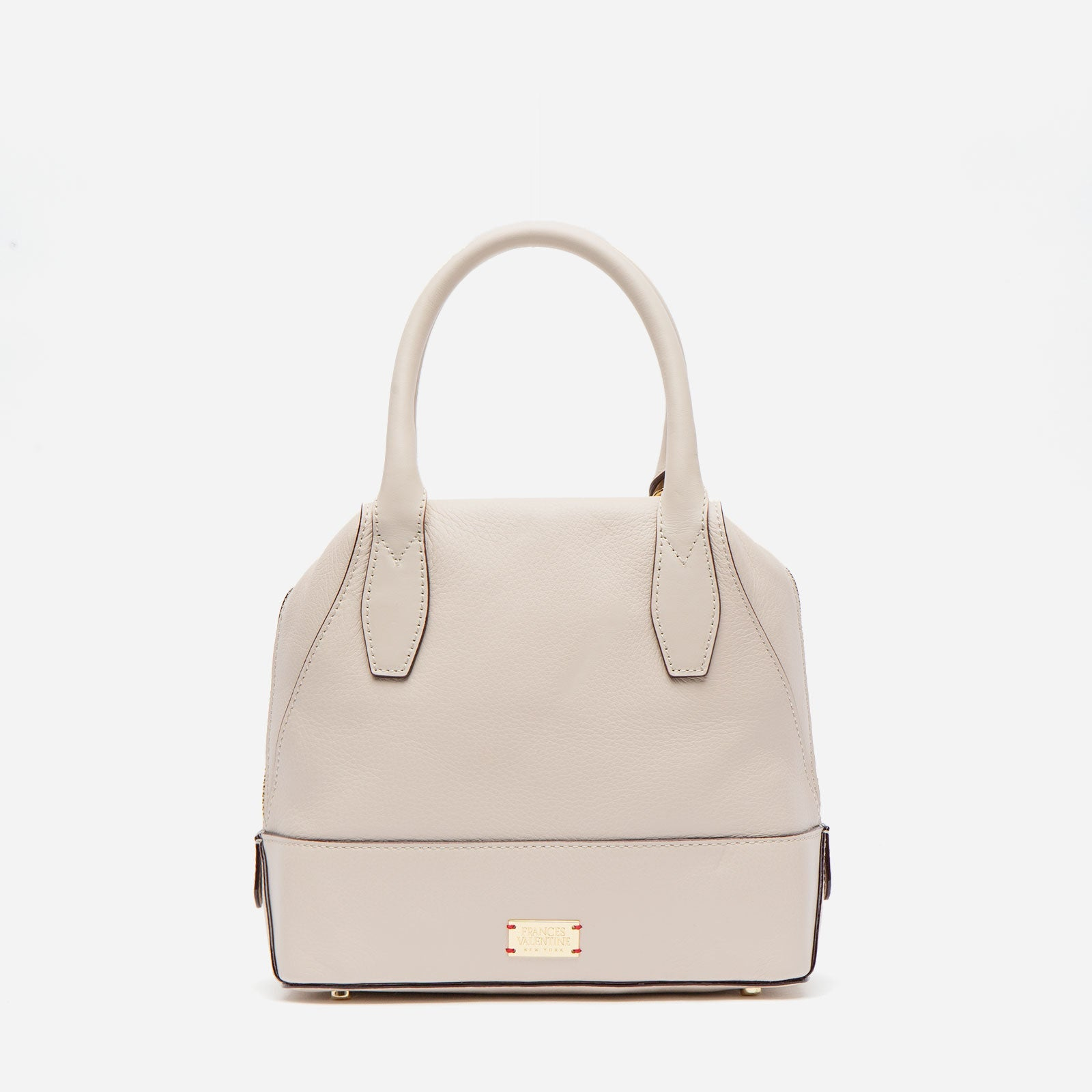 Small Abby Tote Tumbled Leather Oyster - Frances Valentine