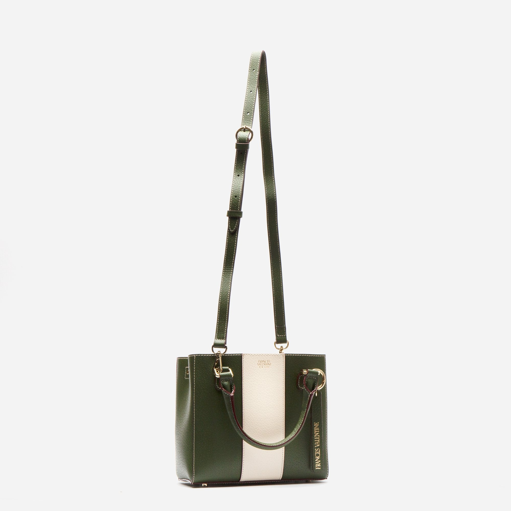 Small Chloe Racing Stripe Olive