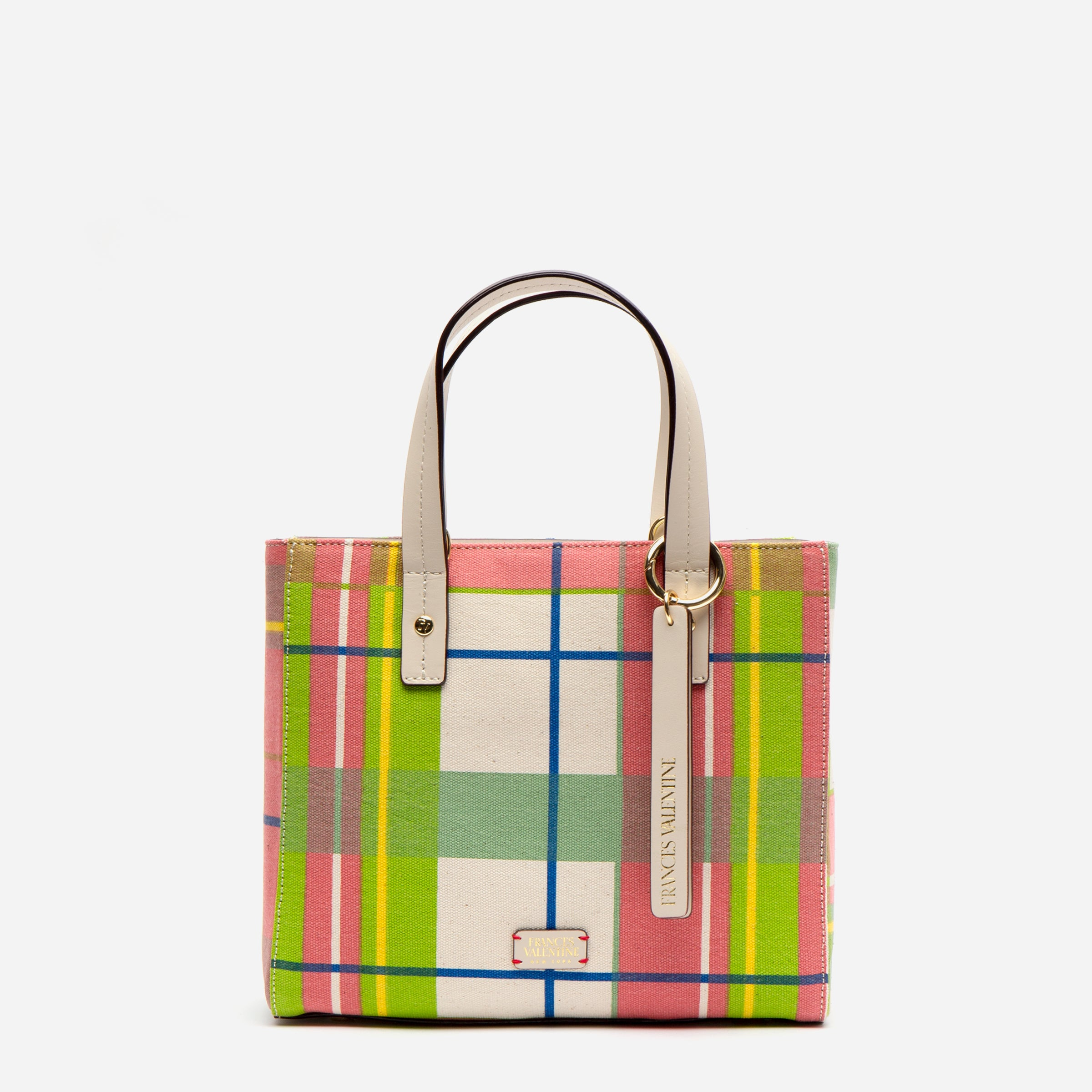 Small Chloe Tote Bermuda Plaid - Frances Valentine
