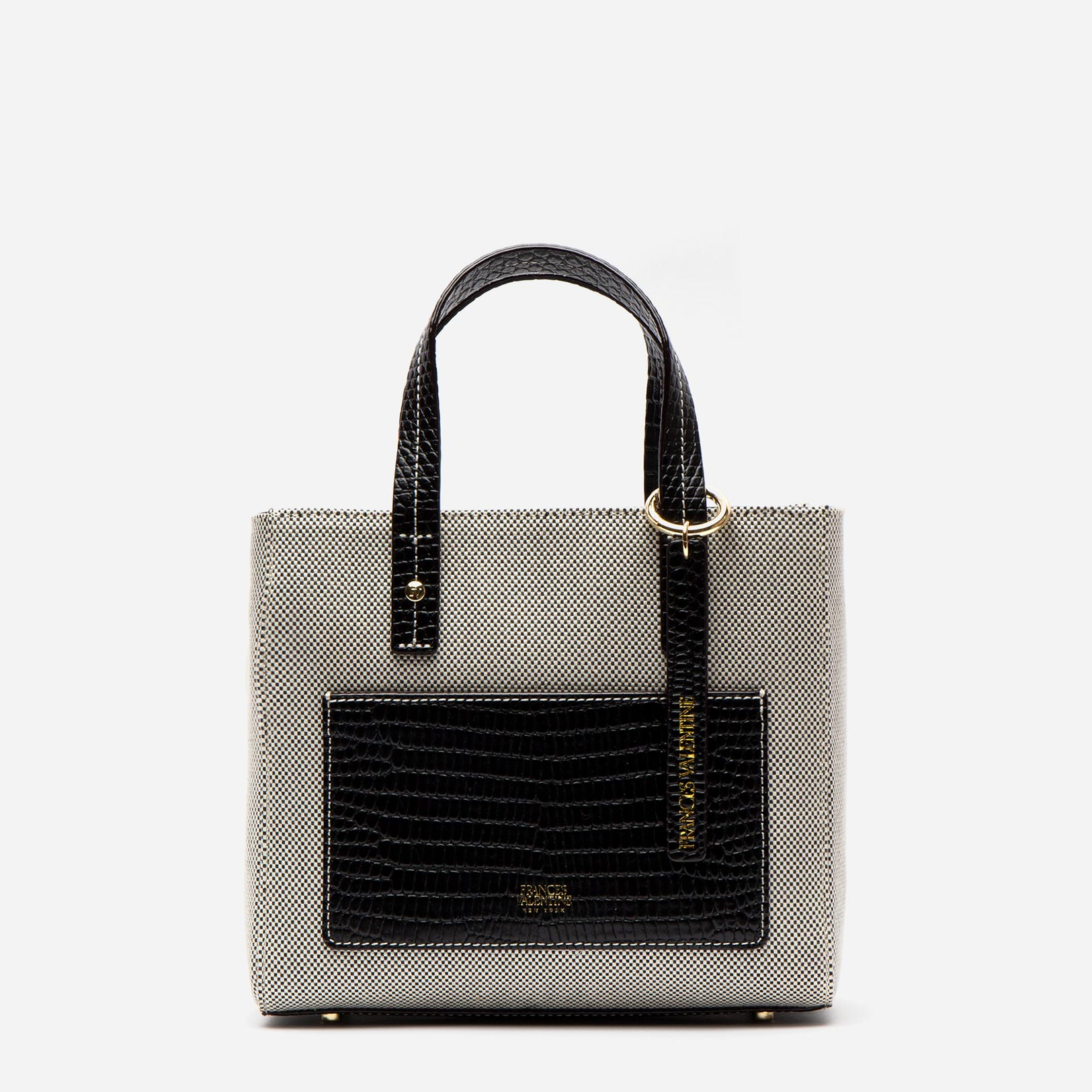 Small Chloe Salt and Pepper Canvas Black