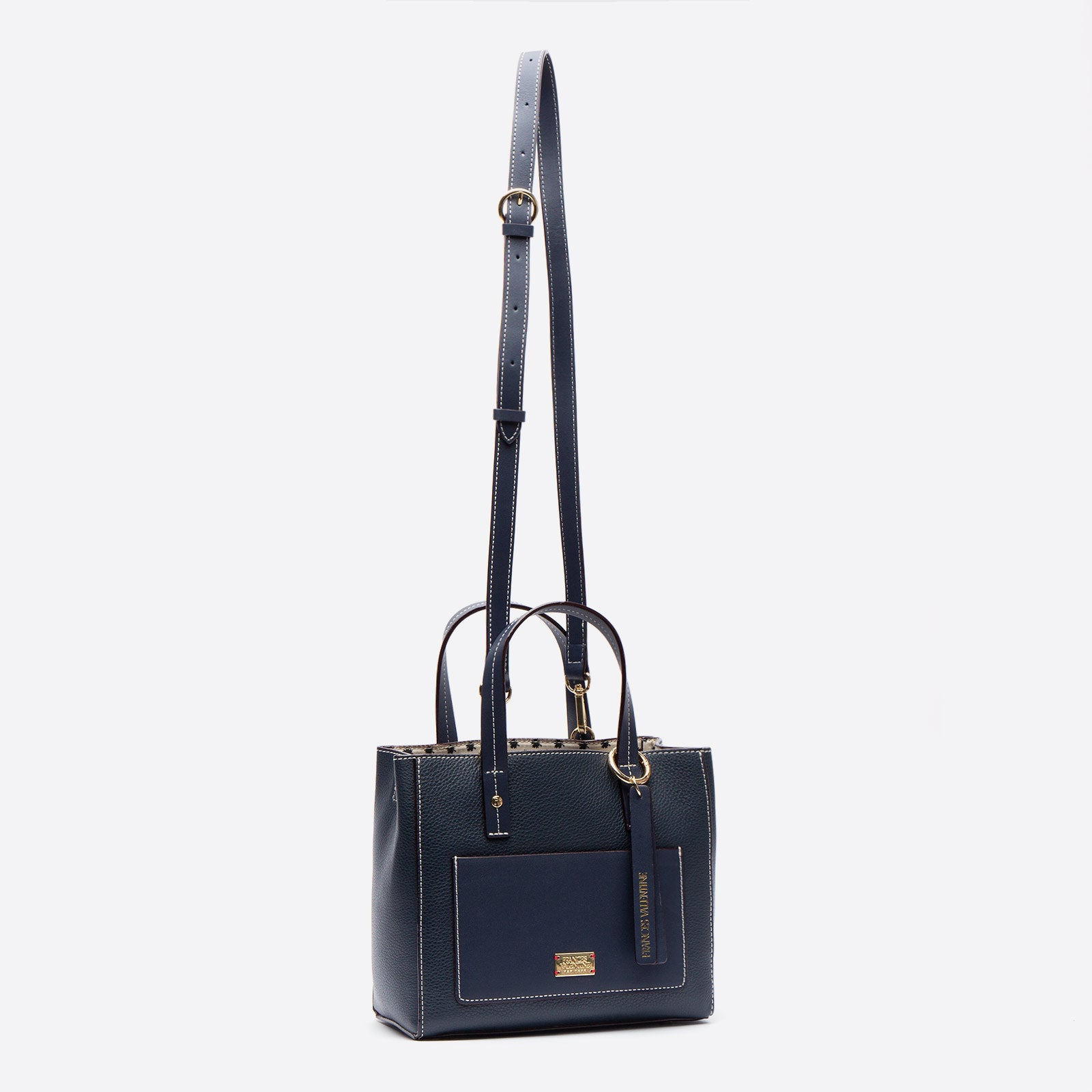 Small Chloe Tumbled Leather Navy