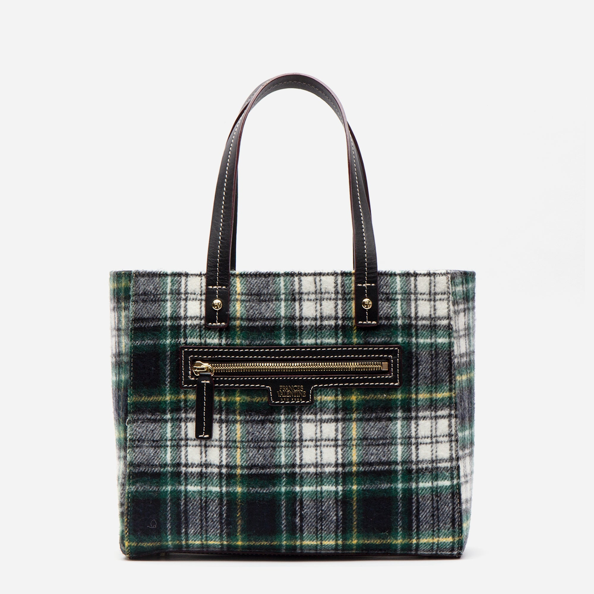 Small Henry Tote Plaid Wool - Frances Valentine