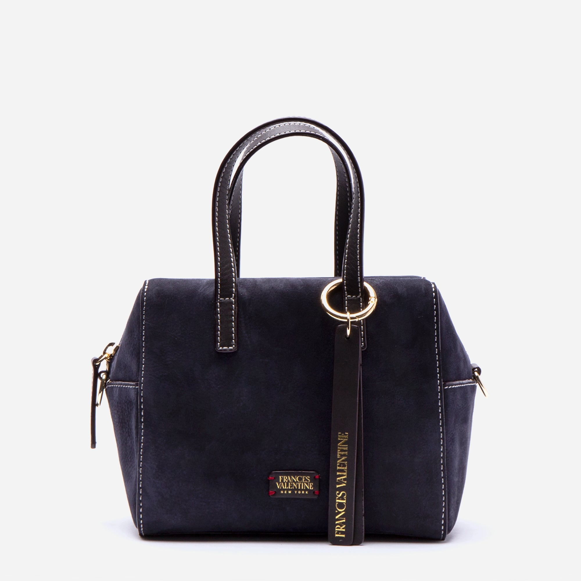 Small Sabrina Tumbled Nubuck Navy Chocolate