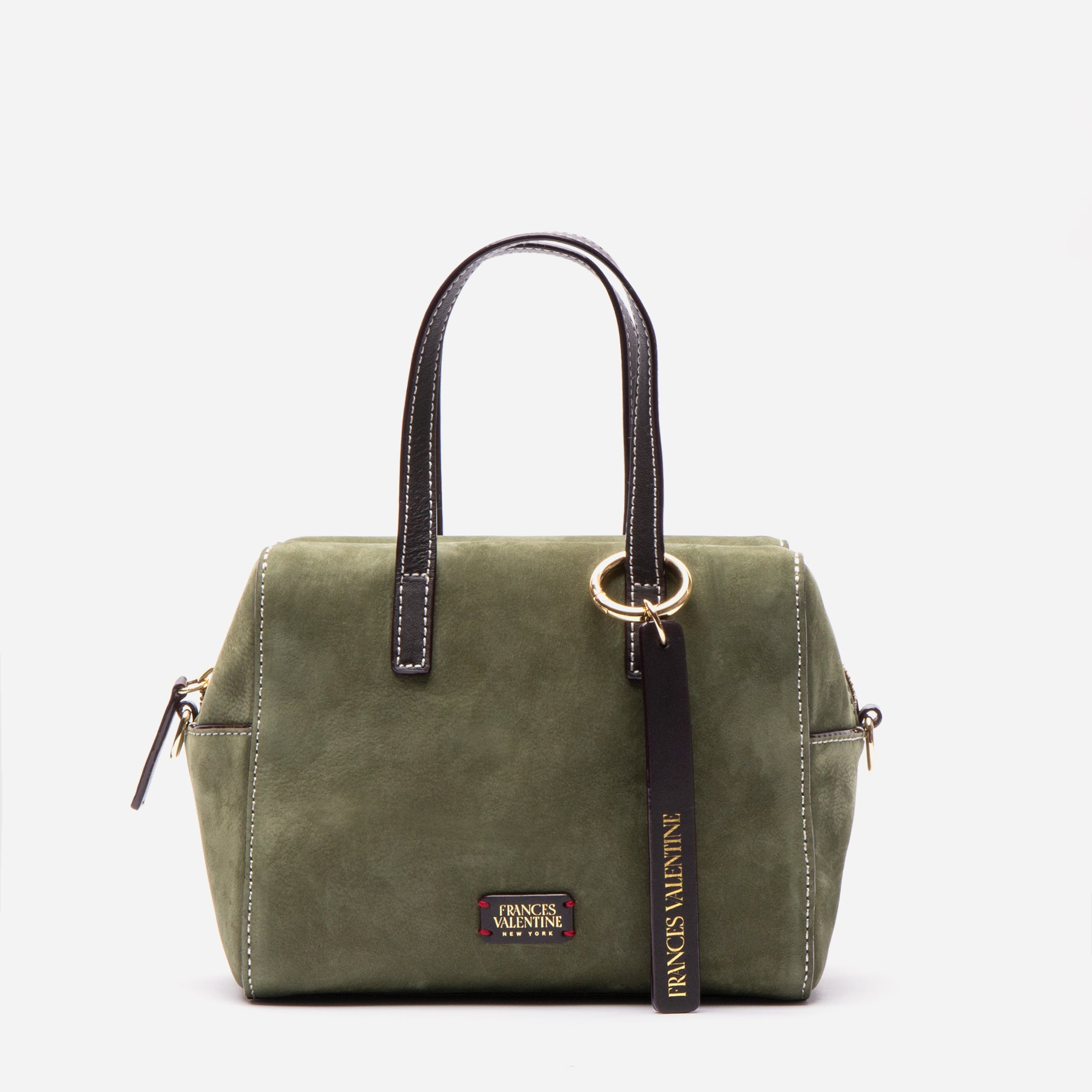 Small Sabrina Tumbled Nubuck Olive Chocolate