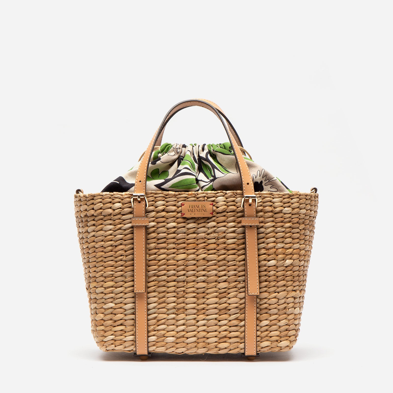 Small Woven Tote Merida Leaf - Frances Valentine
