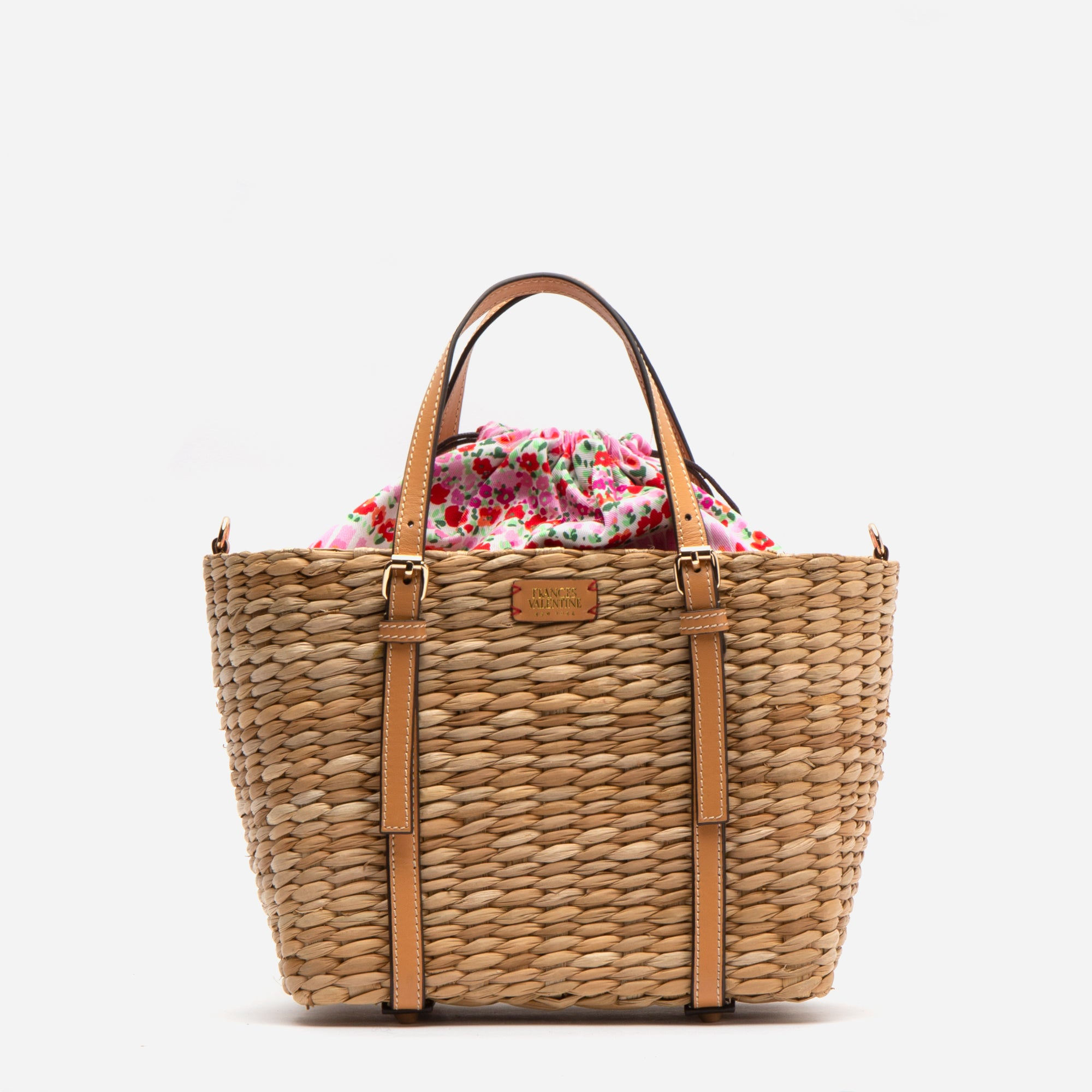 Small Woven Tote Natural Vachetta