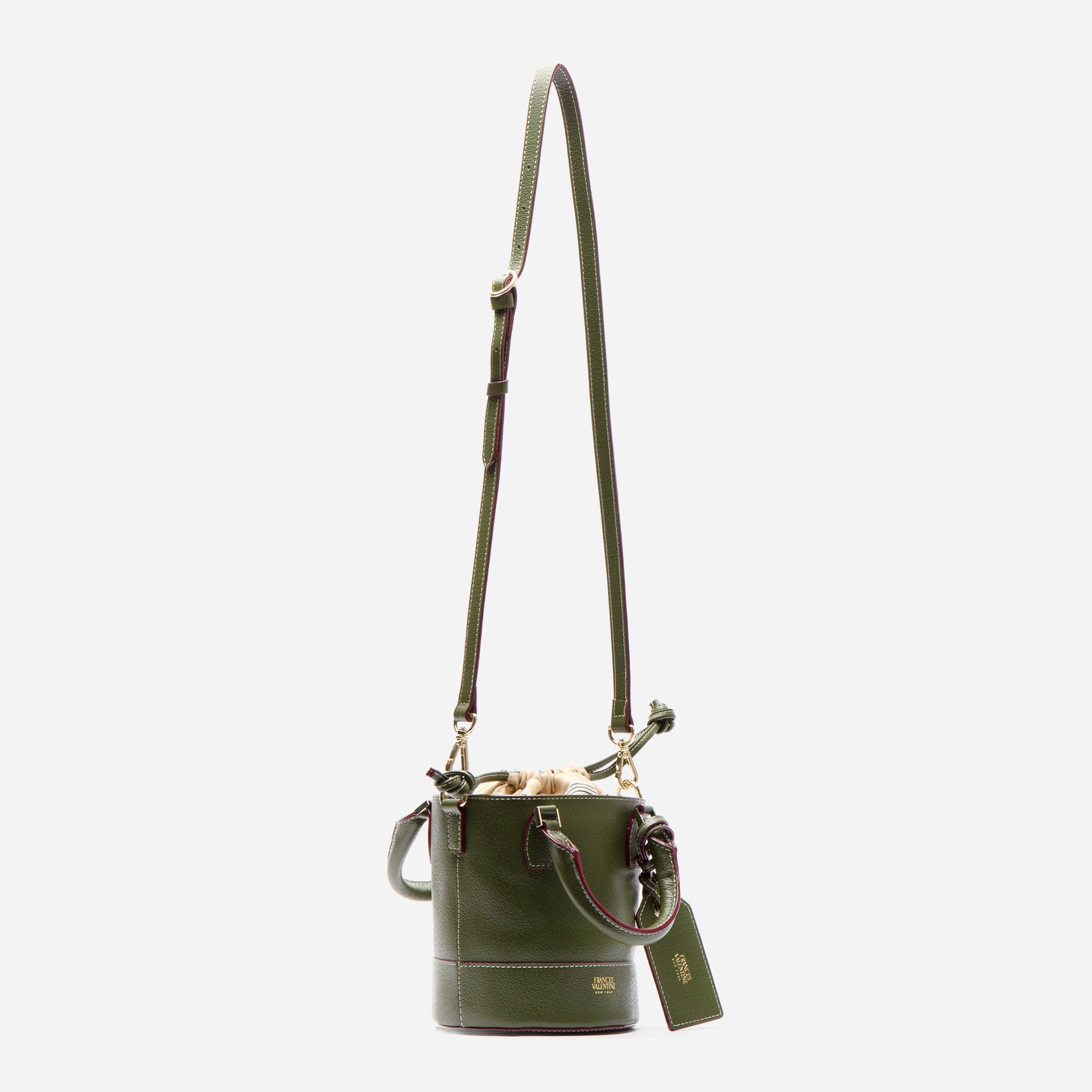 Small Bucket Bag Boarskin Olive