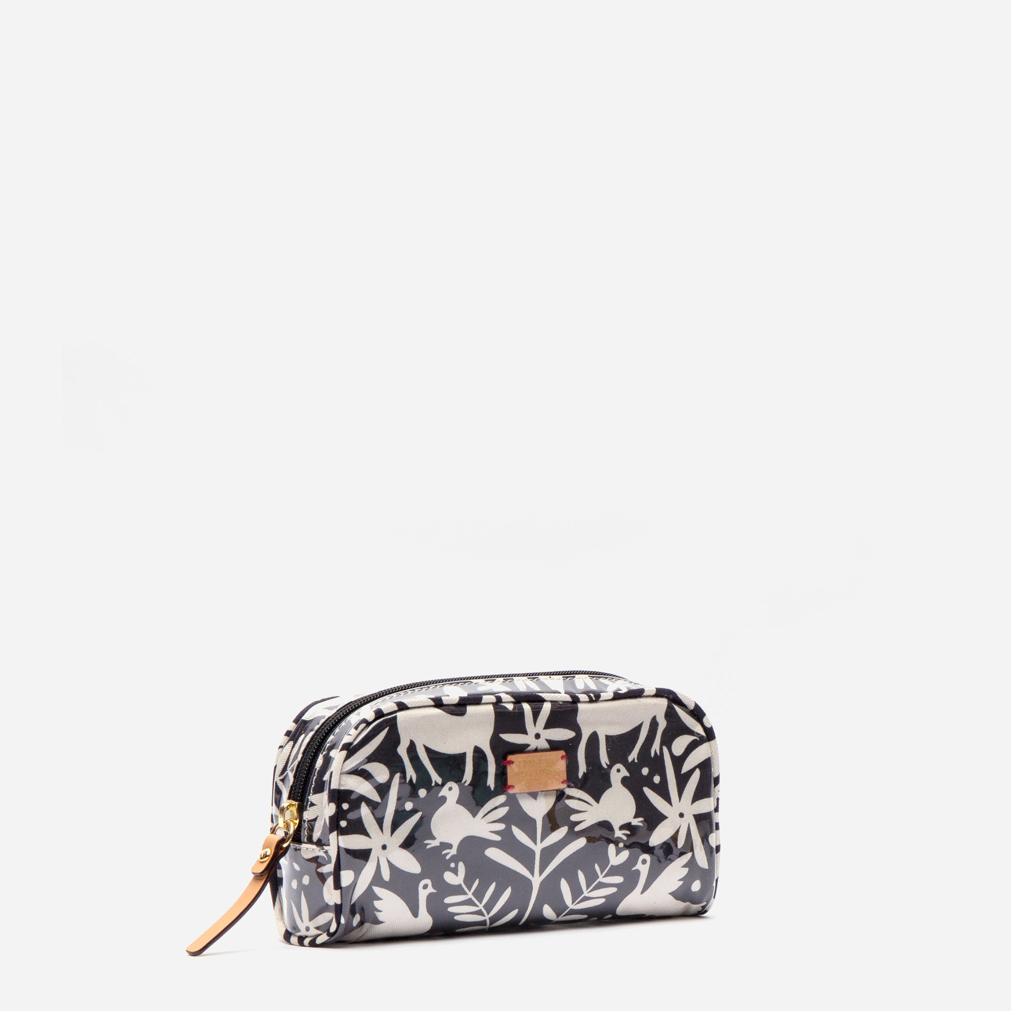 Small Cosmetic Otomi Print Black