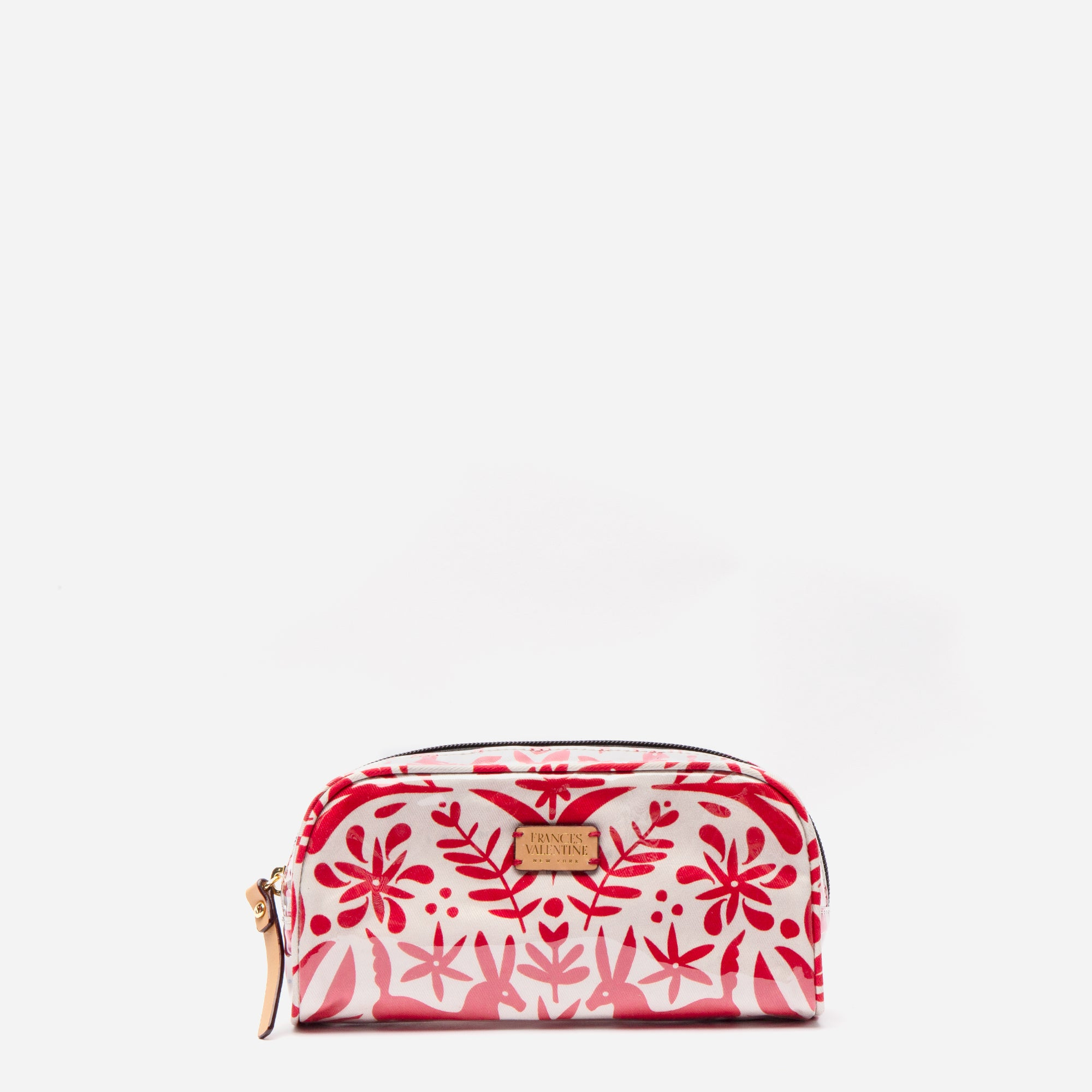 Small Cosmetic Otomi Print Red - Frances Valentine