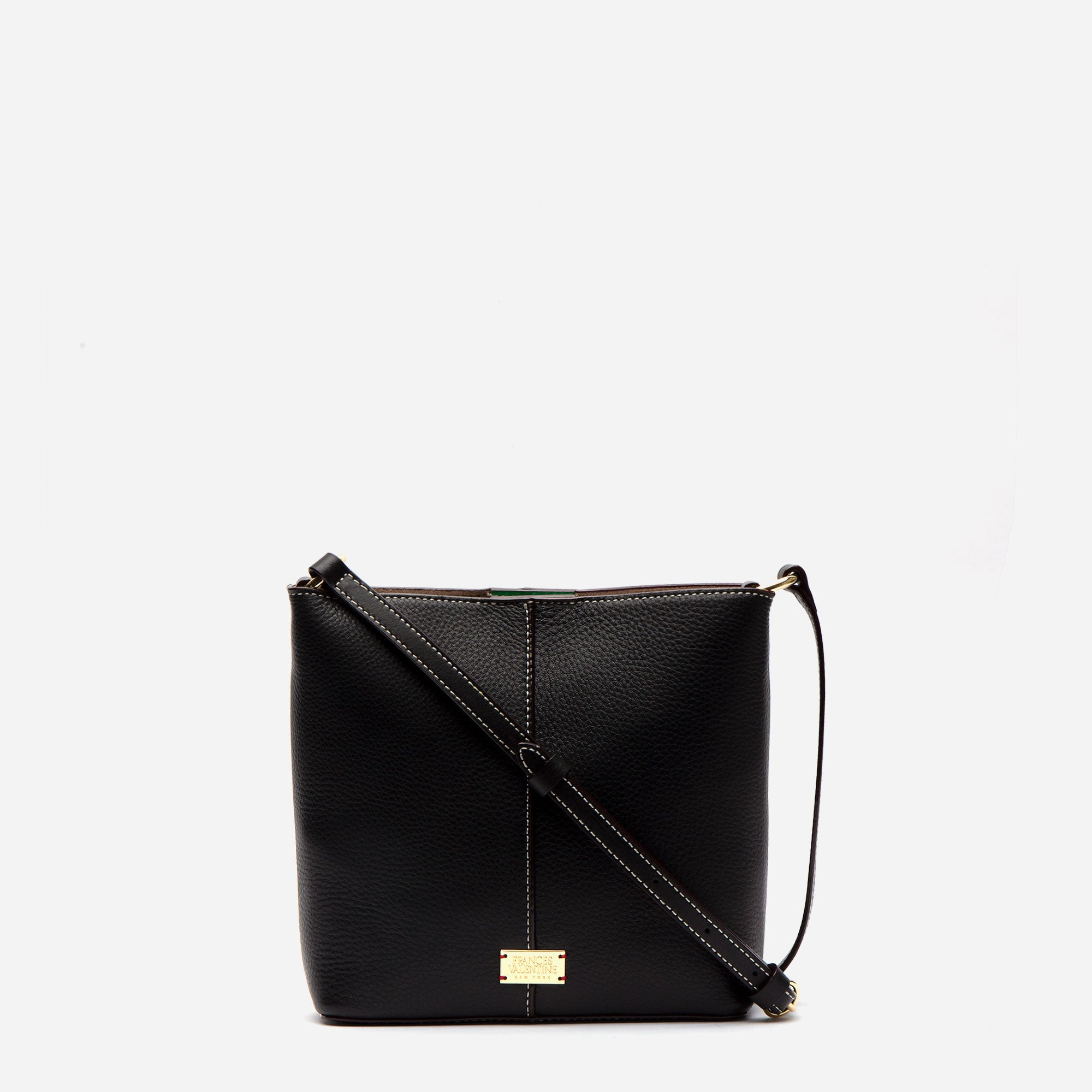 Small Finn Tumbled Leather Black - Frances Valentine