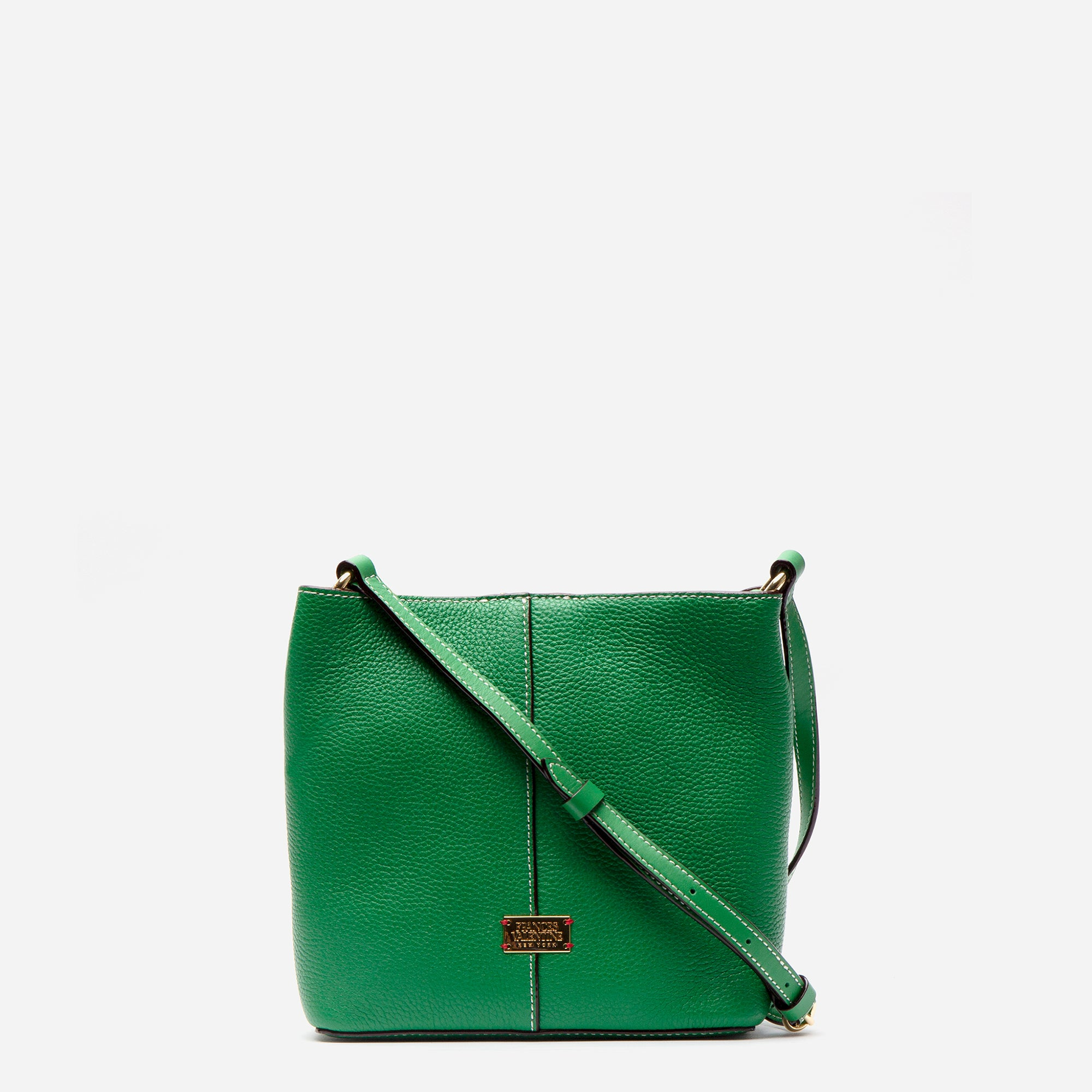 Small Finn Tumbled Leather Green - Frances Valentine