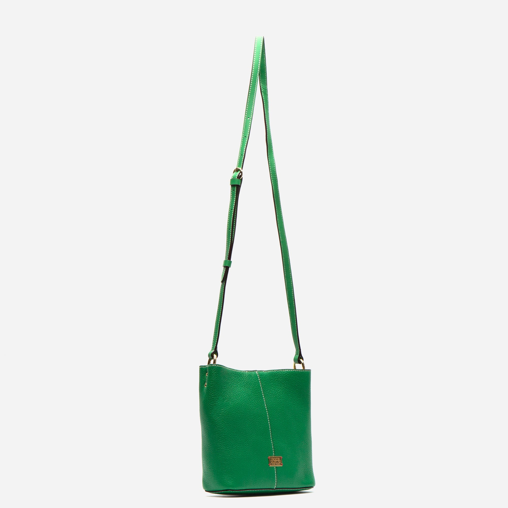 Small Finn Tumbled Leather Green