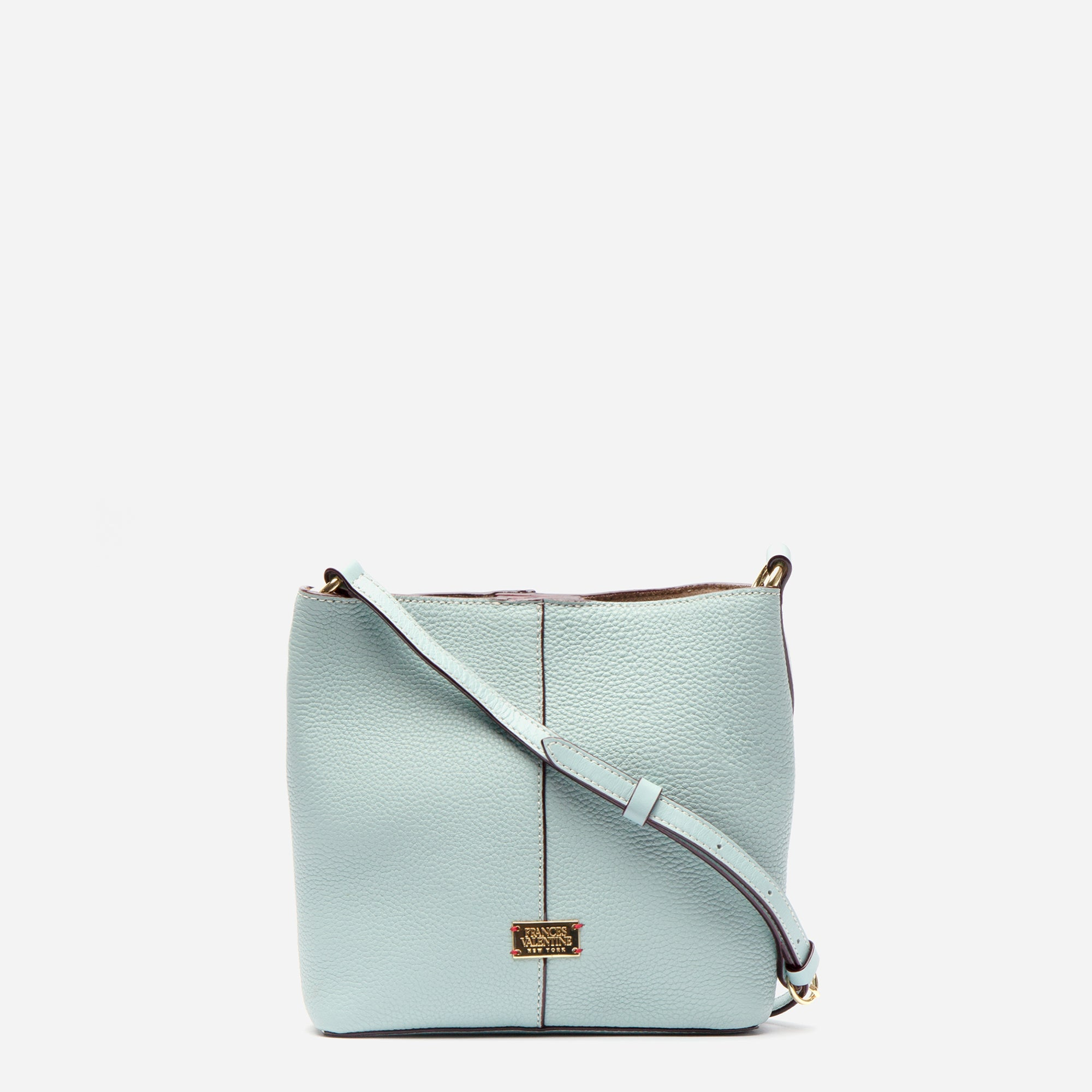 Small Finn Tumbled Leather Light Blue - Frances Valentine