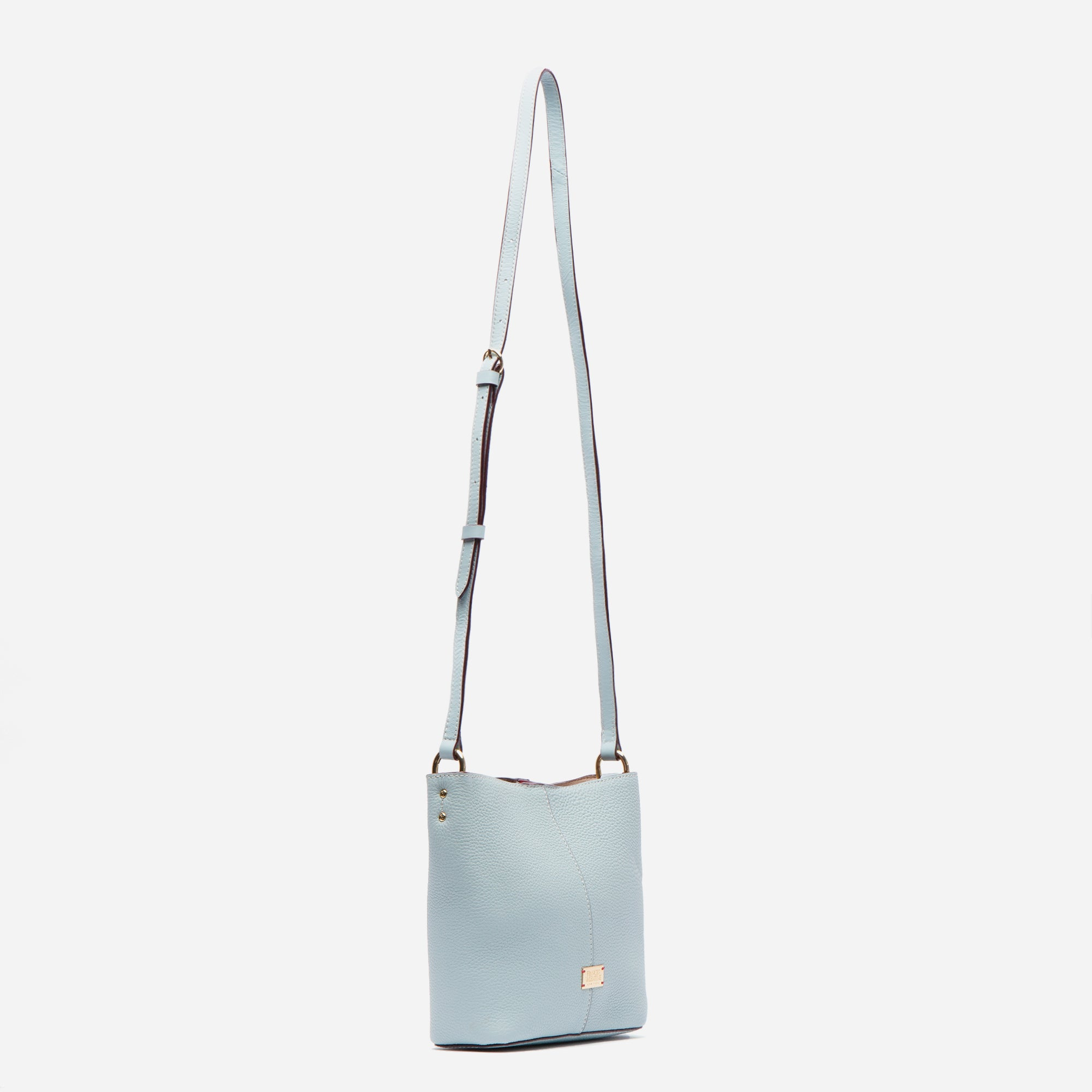 Small Finn Tumbled Leather Light Blue