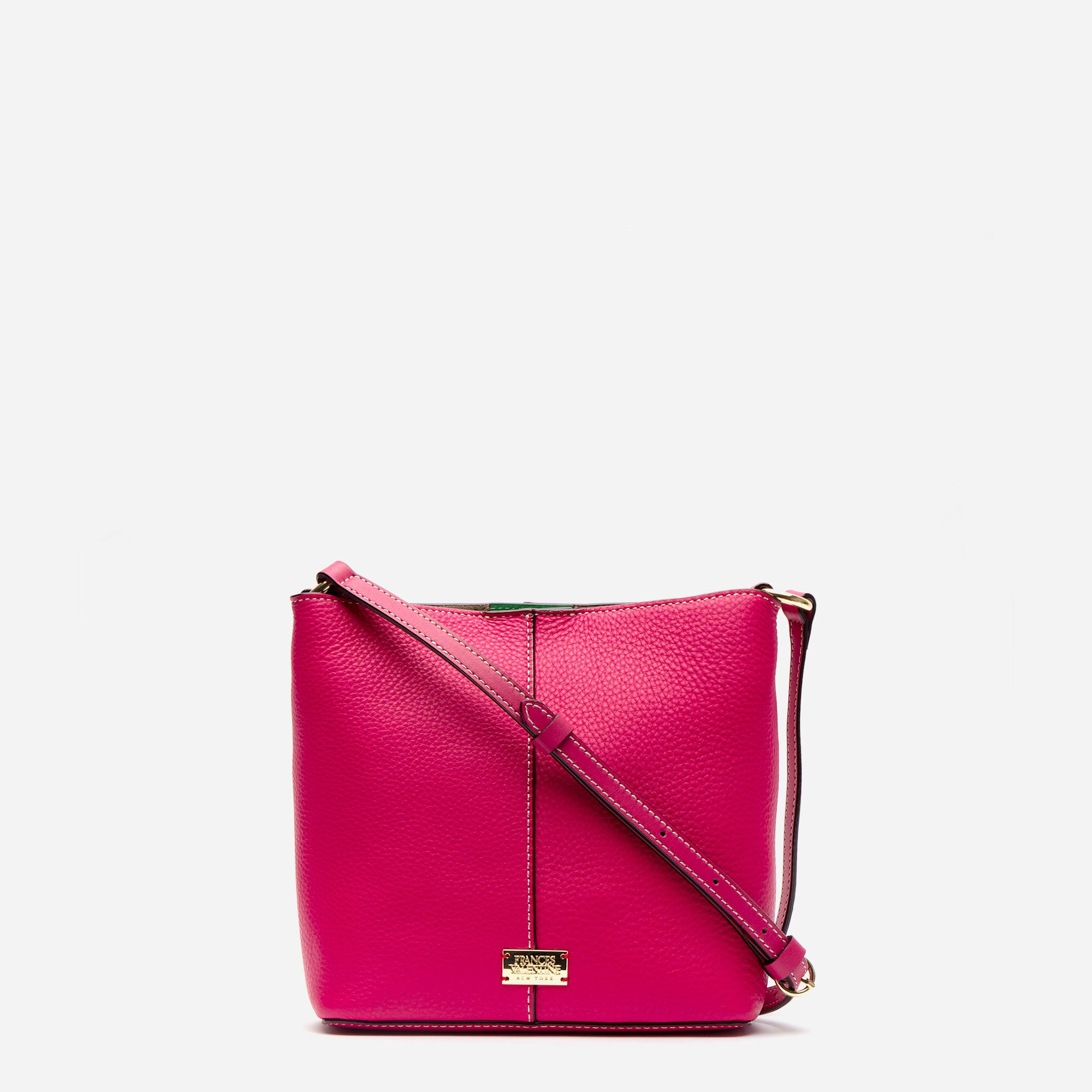 Small Finn Tumbled Leather Pink - Frances Valentine