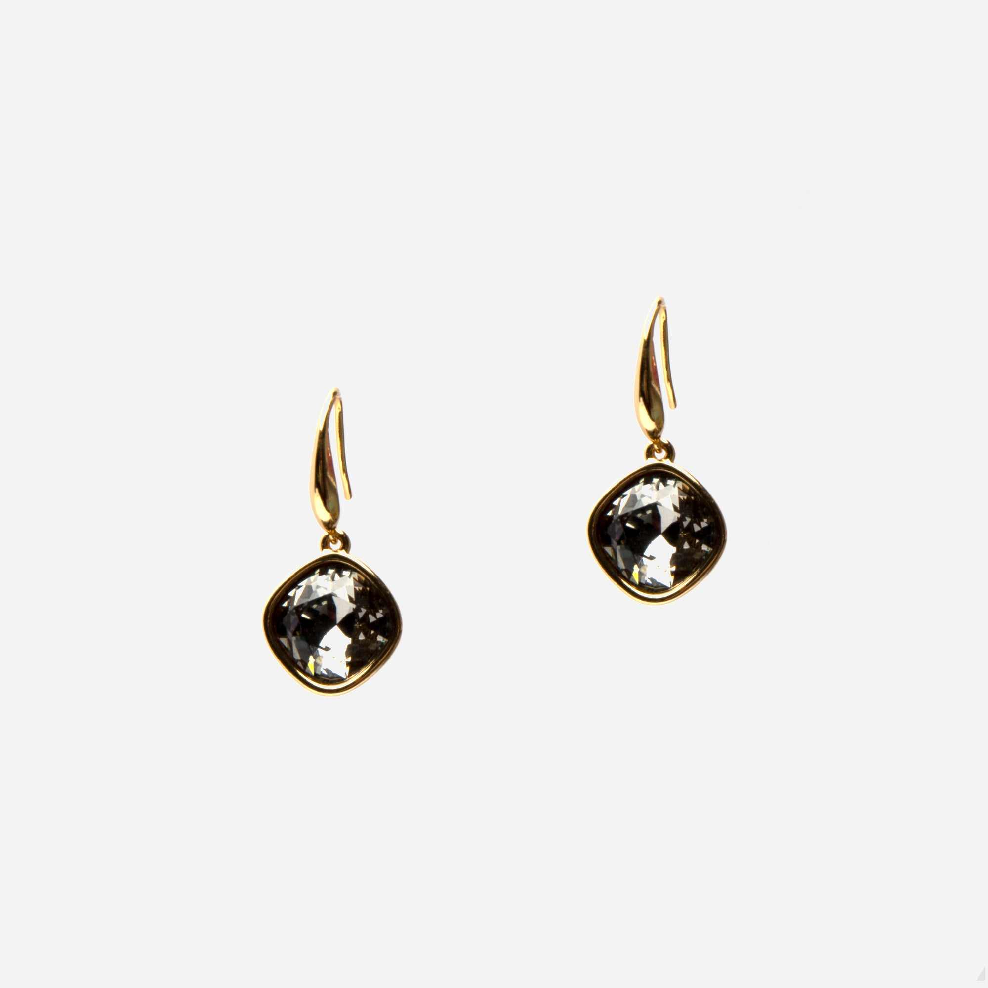 Slate Sparkle Drop Earrings - Frances Valentine