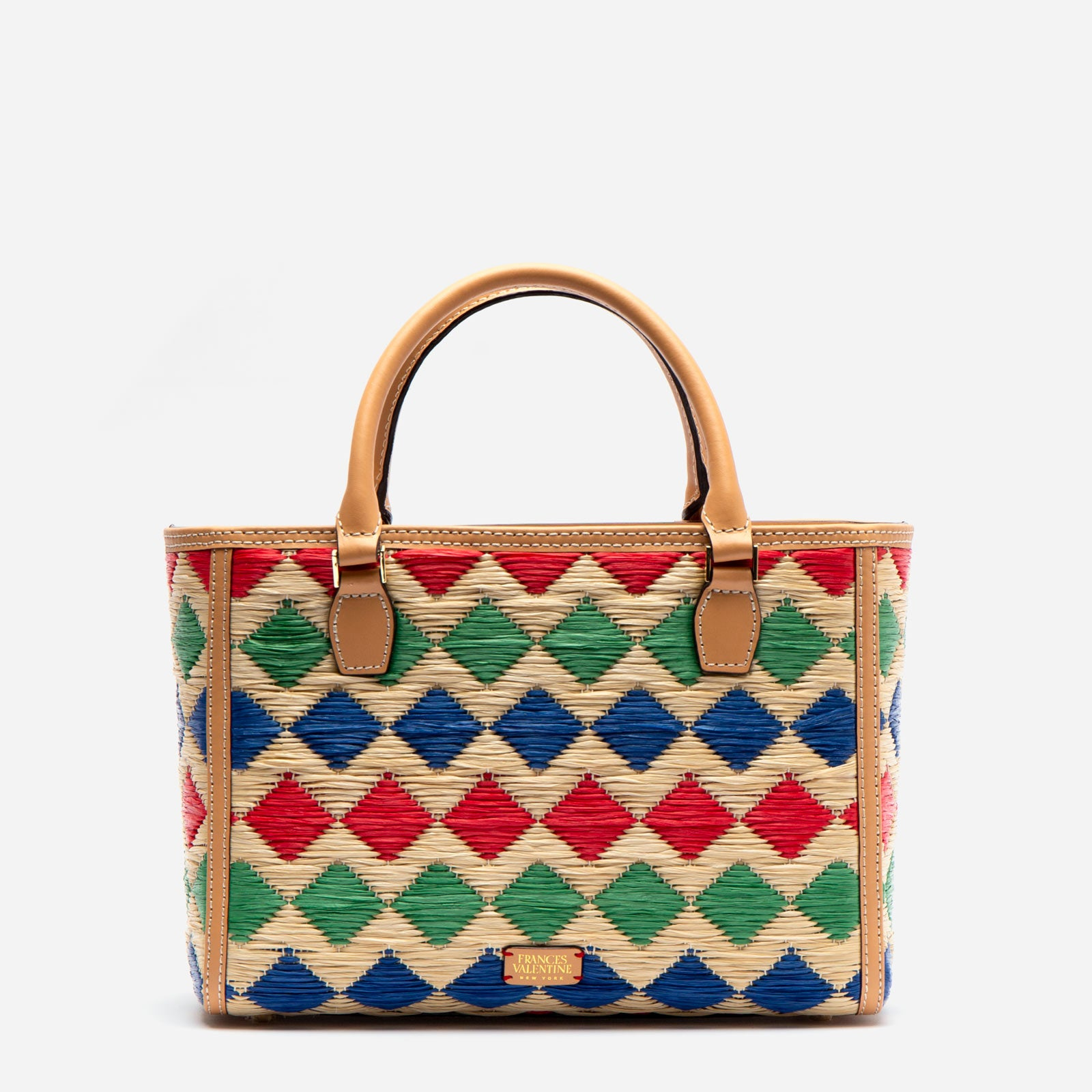 Small Olivia Woven Tote Diamond