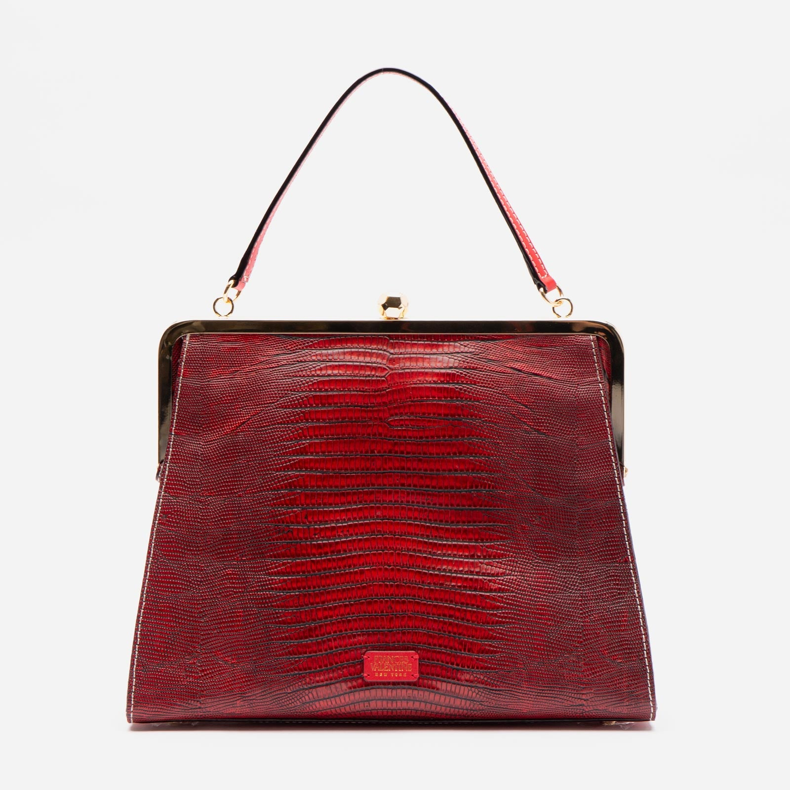 Jackie Embossed Lizard Red