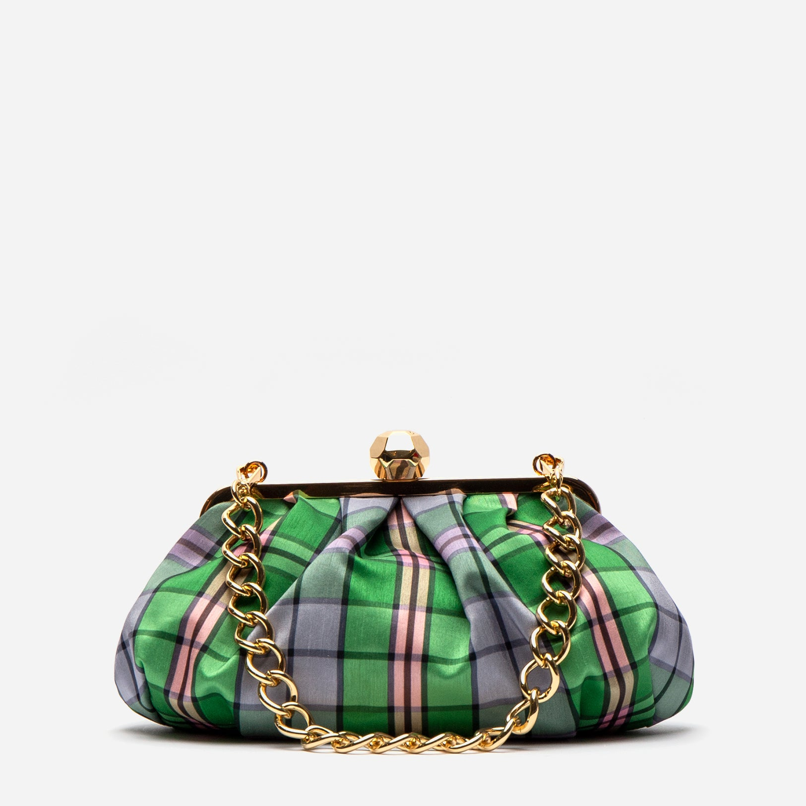 Zelda Frame Bag Nantucket Plaid - Frances Valentine
