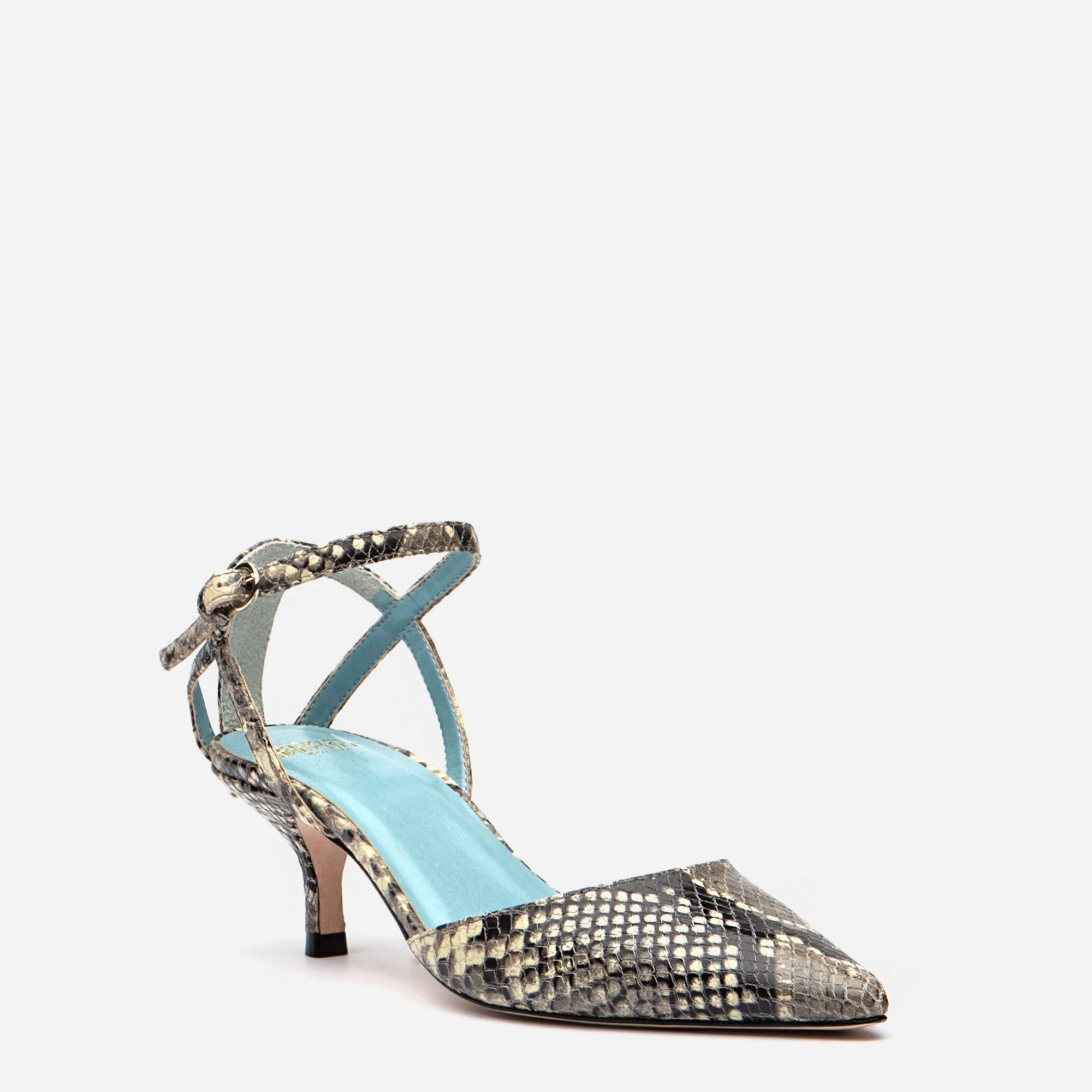 Alice Snake Pointed Toe Heels Natural