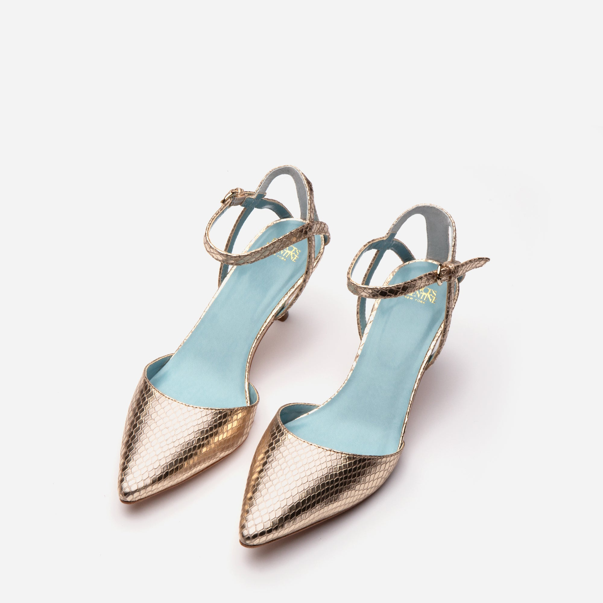 Alice Snake Pointed Toe Heel Platino