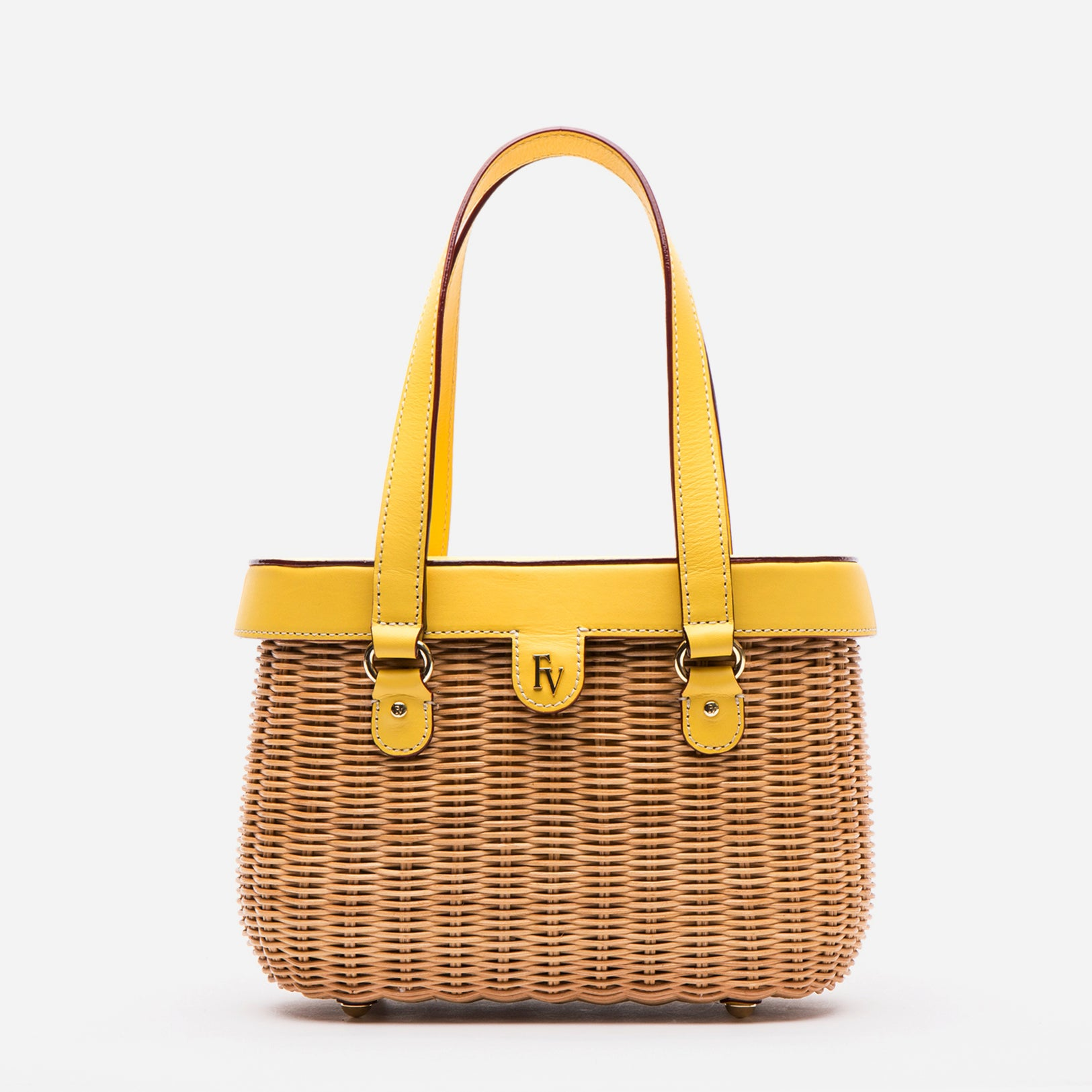 Arielle Wicker Basket Canary