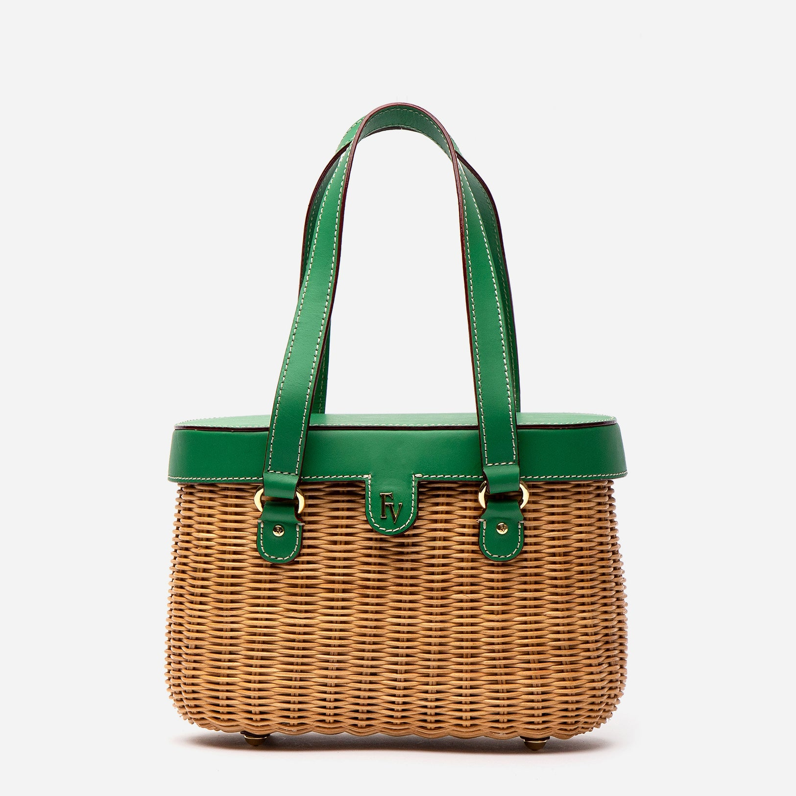 Arielle Wicker Basket Green Ray
