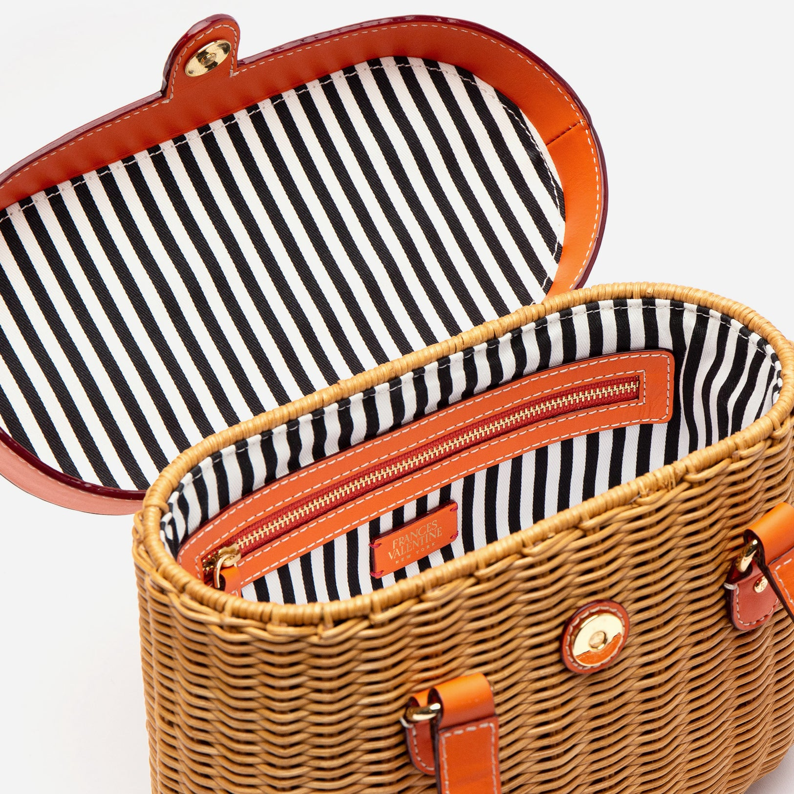 Arielle Wicker Basket Tangerine
