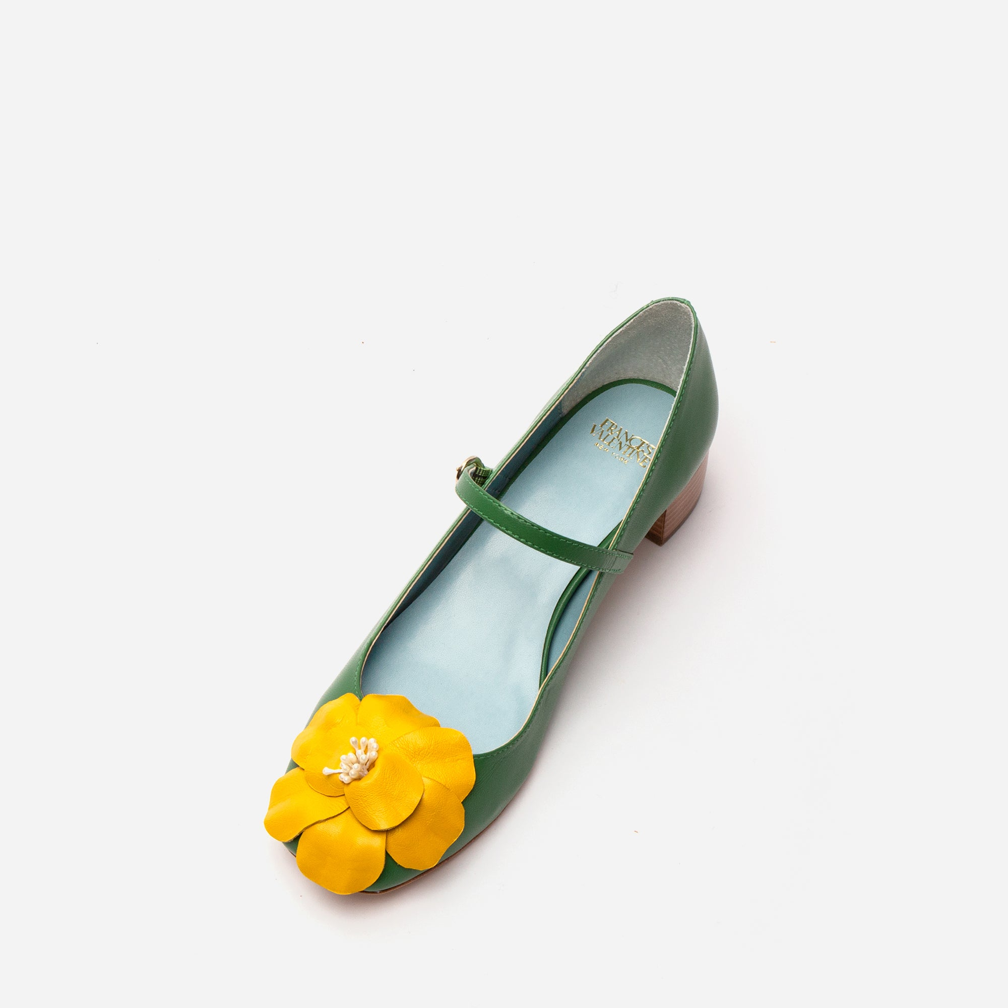 Babe Mary Jane Heels Green Yellow