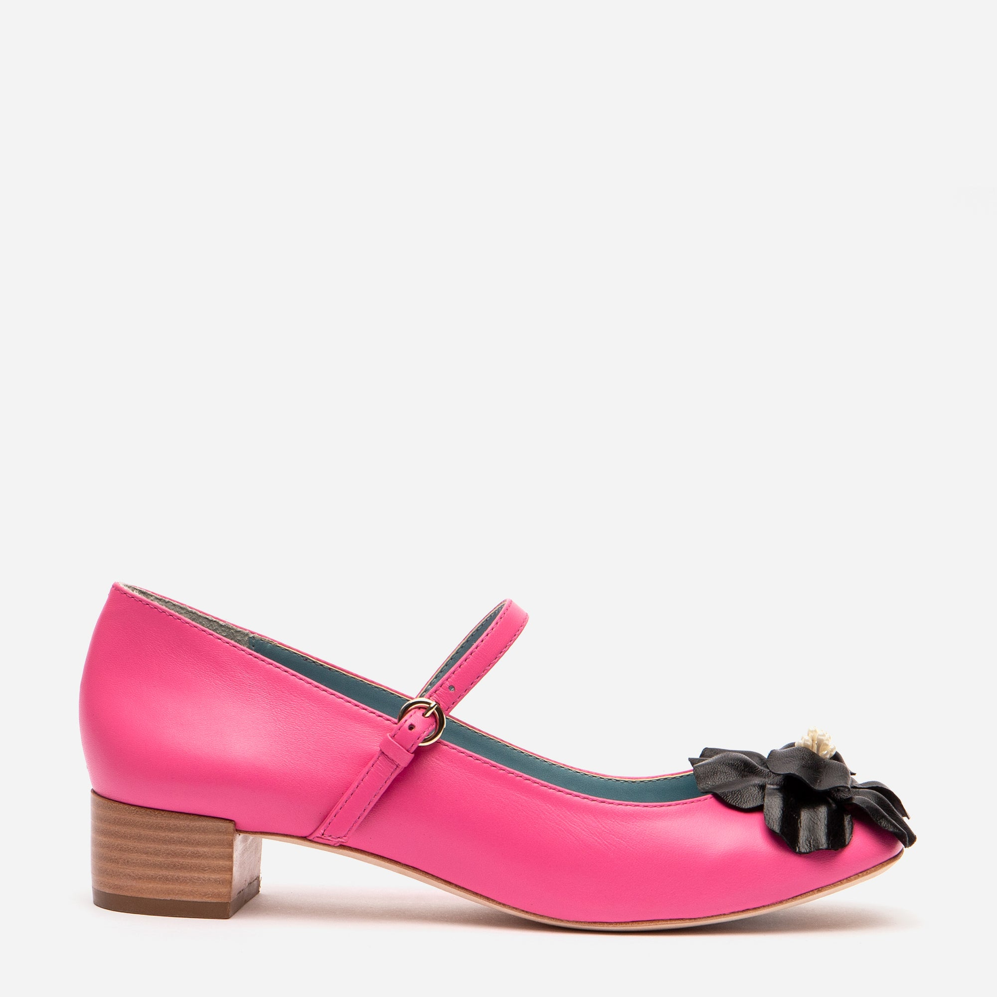 Babe Mary Jane Heels Pink Black