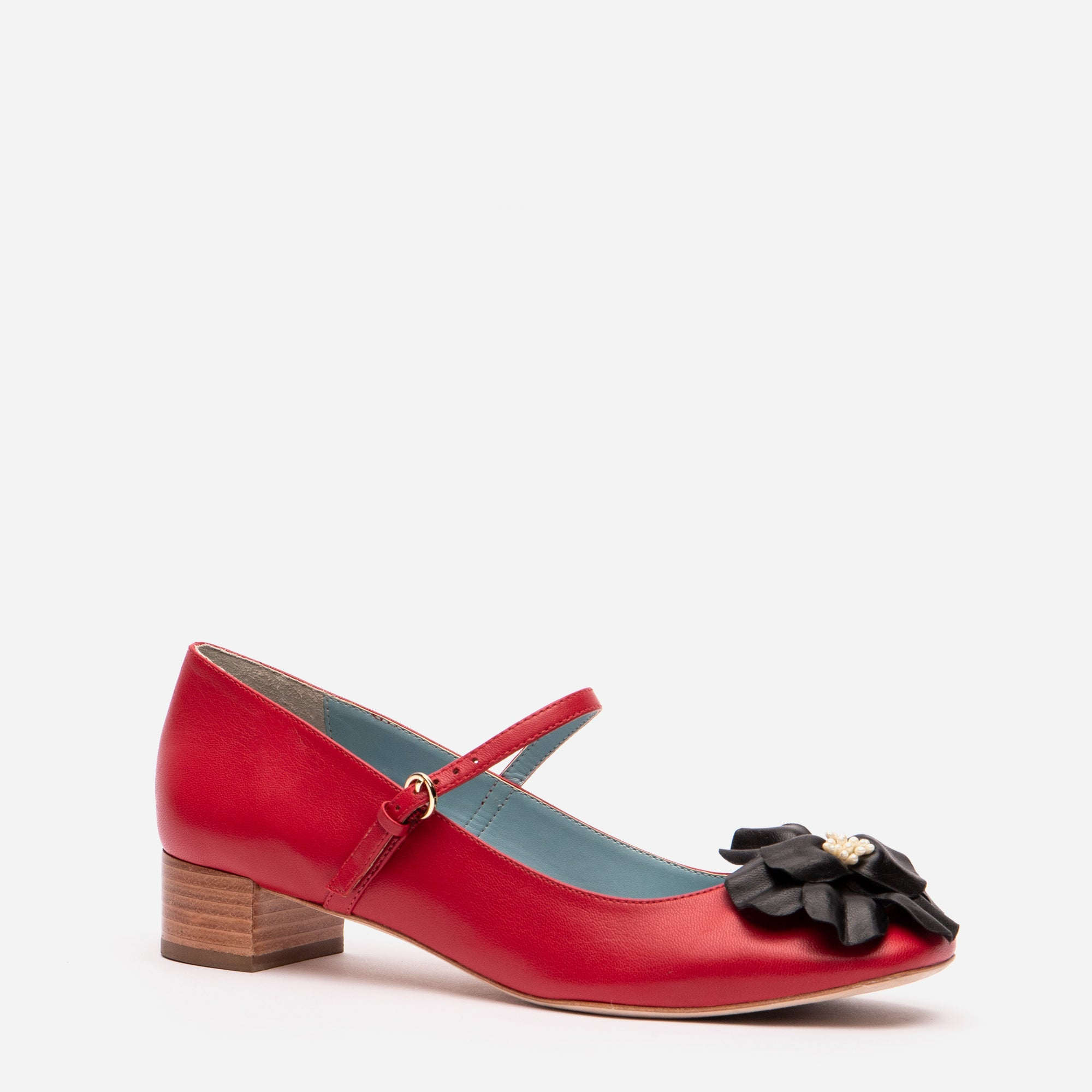 Babe Mary Jane Heels Red Black