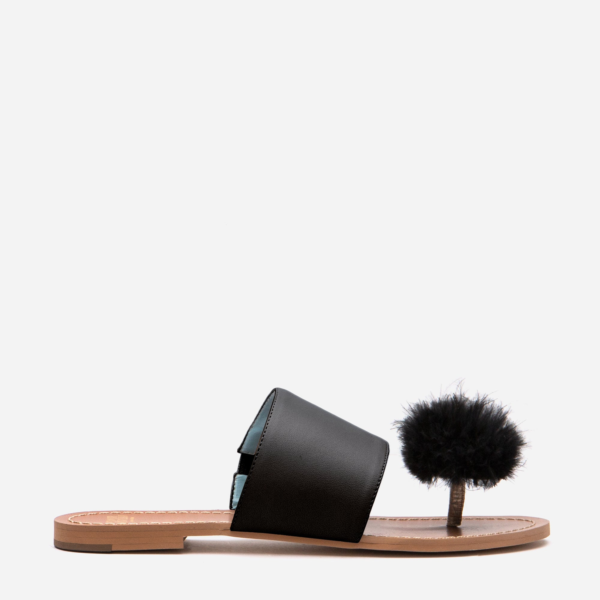 Clementine Pom Pom Sandal Black *FINAL SALE*