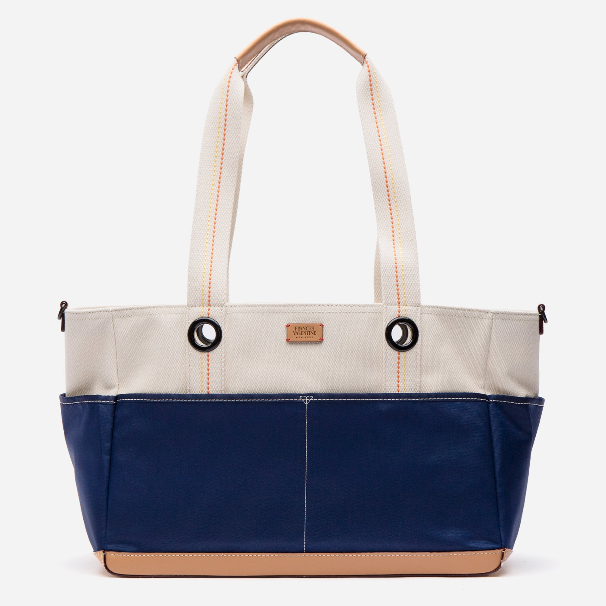 Gardening Canvas Tote Natural Navy