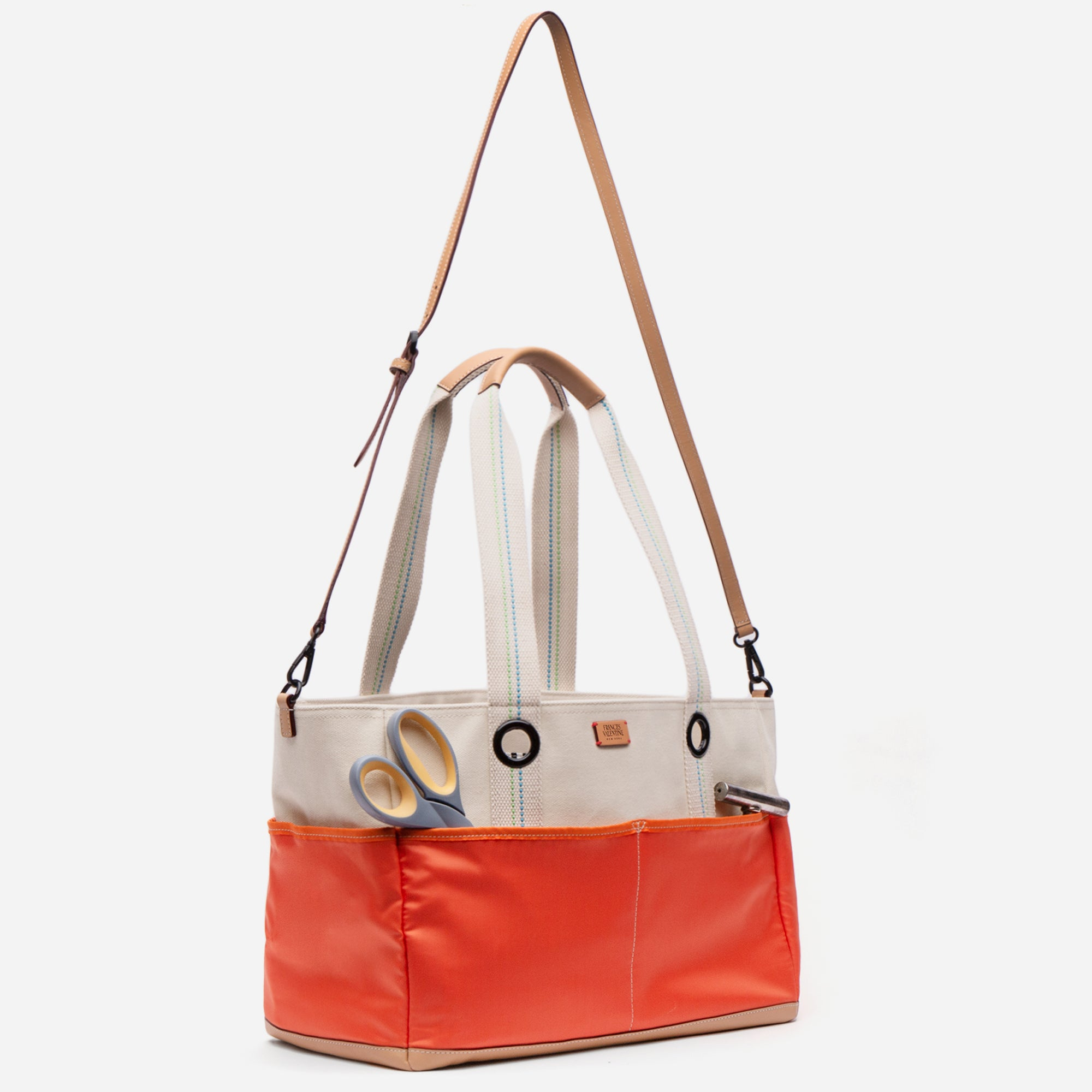 Gardening Canvas Tote Natural Orange