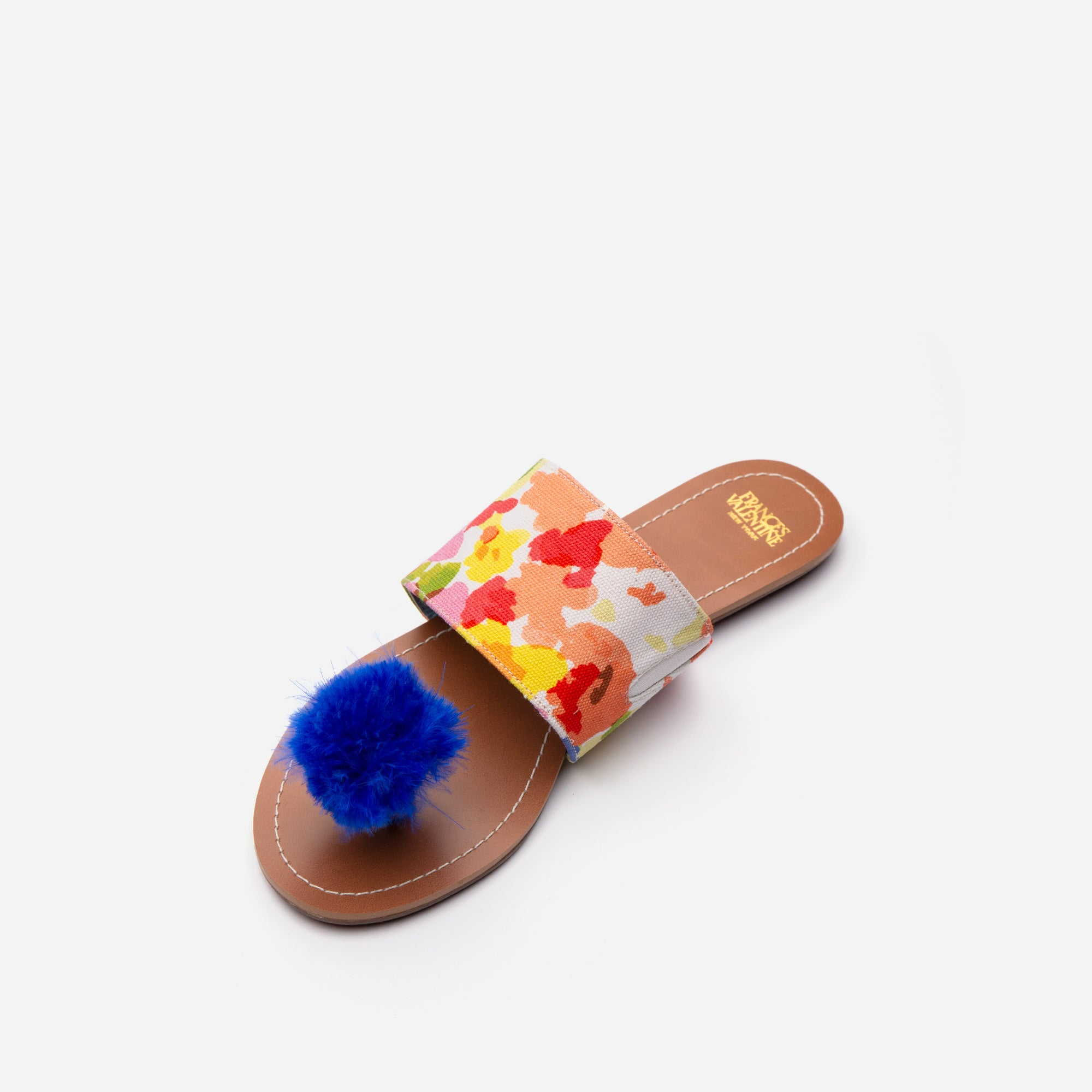 Clementine Pom Pom Sandals Floral