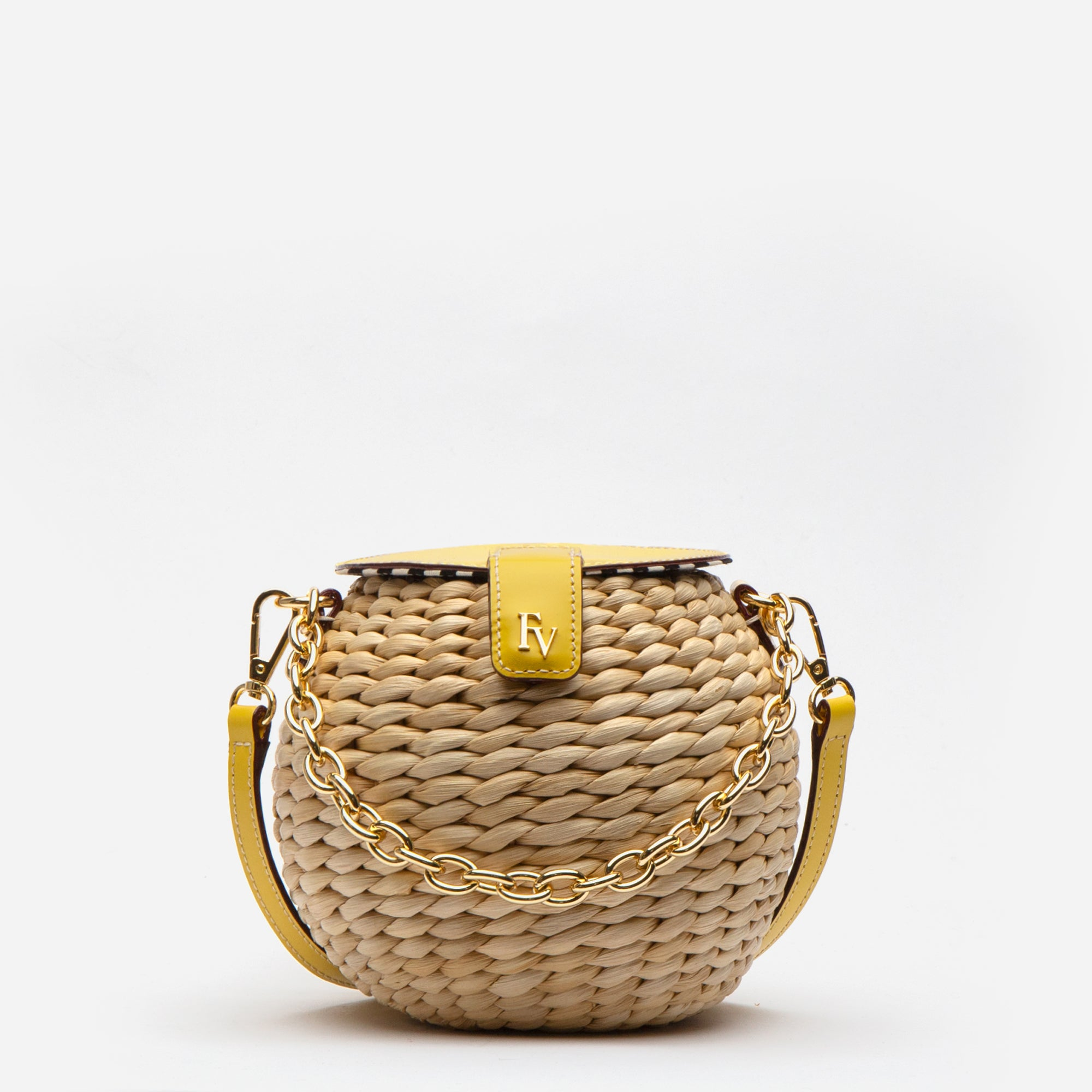 Honeypot Basket Crossbody Canary