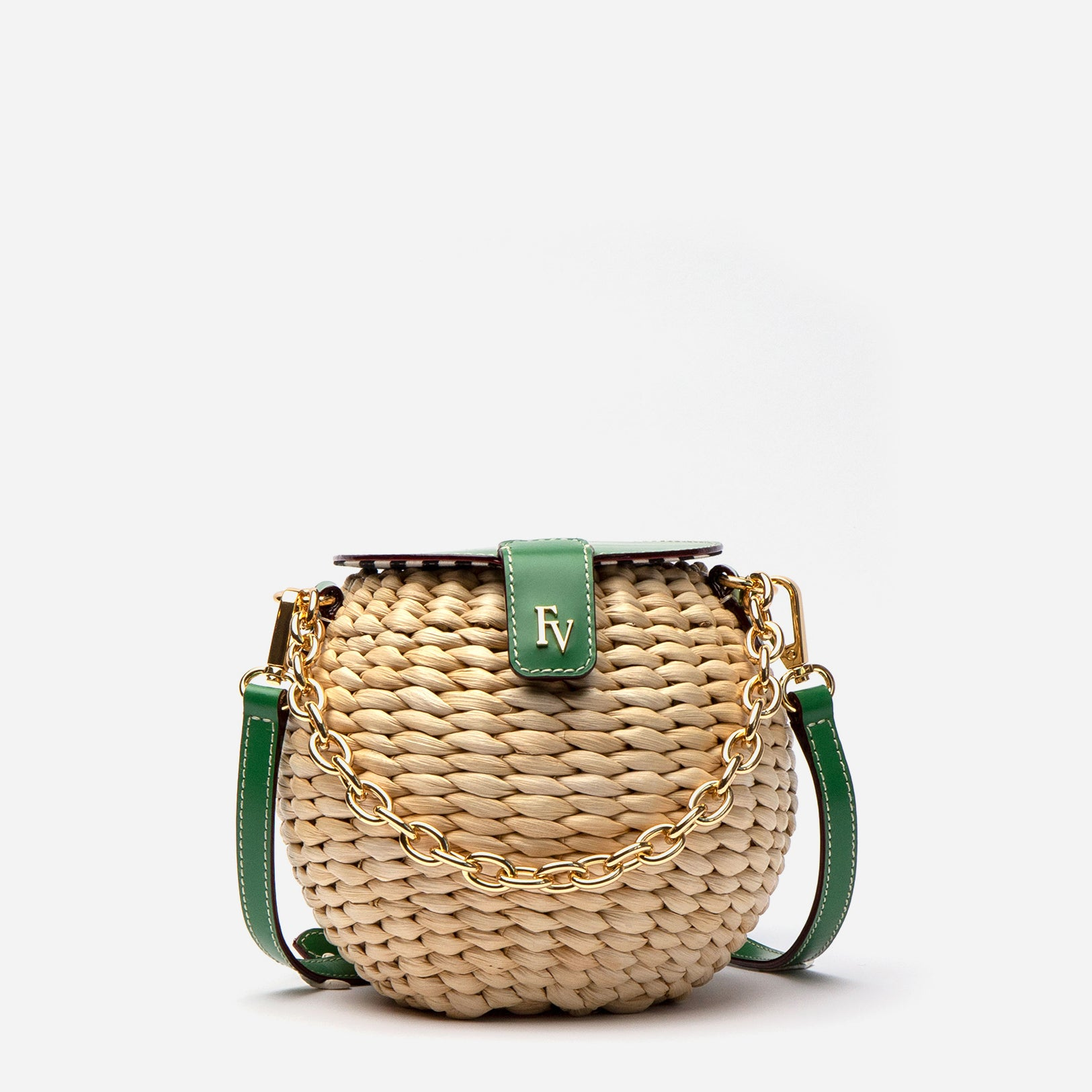Honeypot Basket Crossbody Green Ray