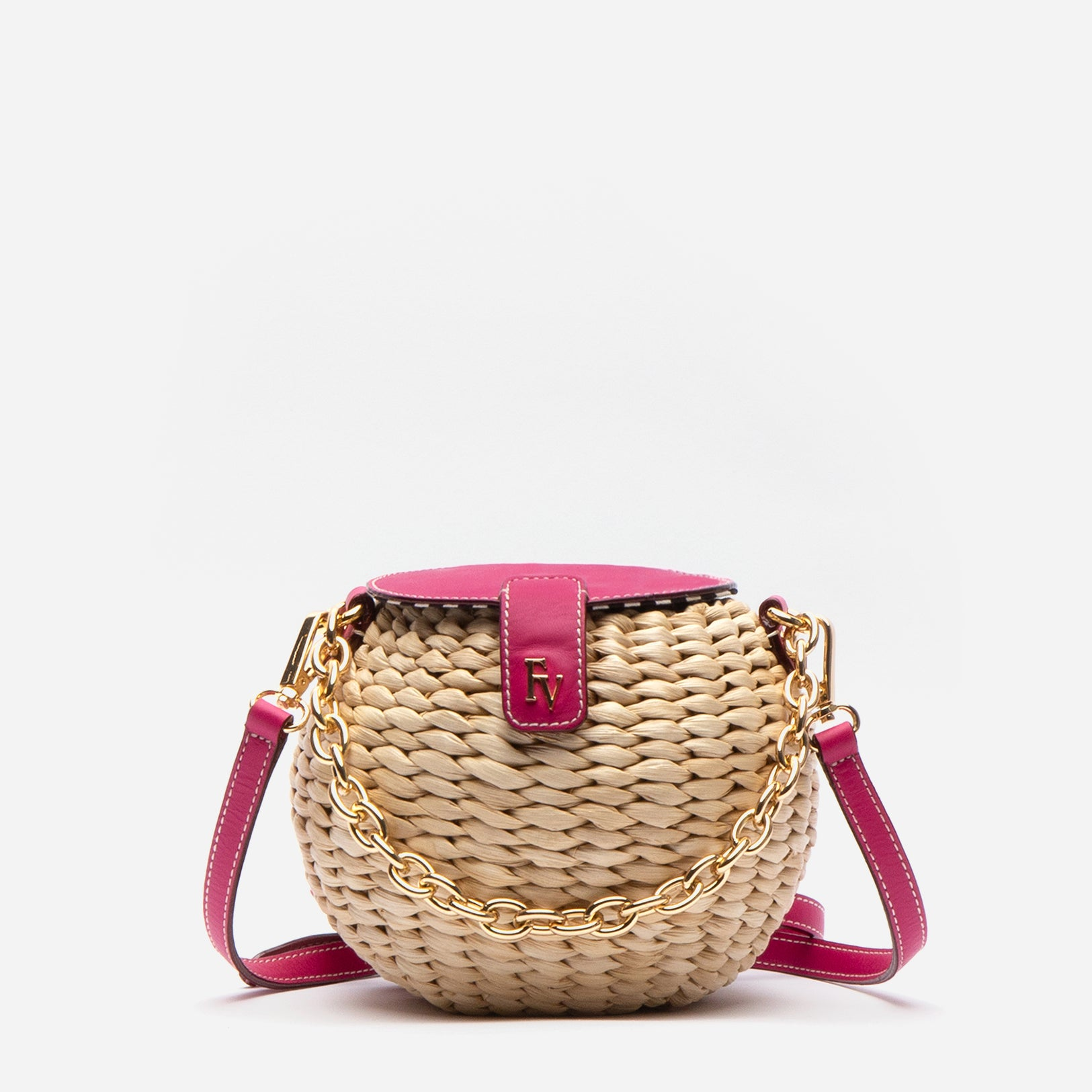 Honeypot Basket Crossbody Bright Pink