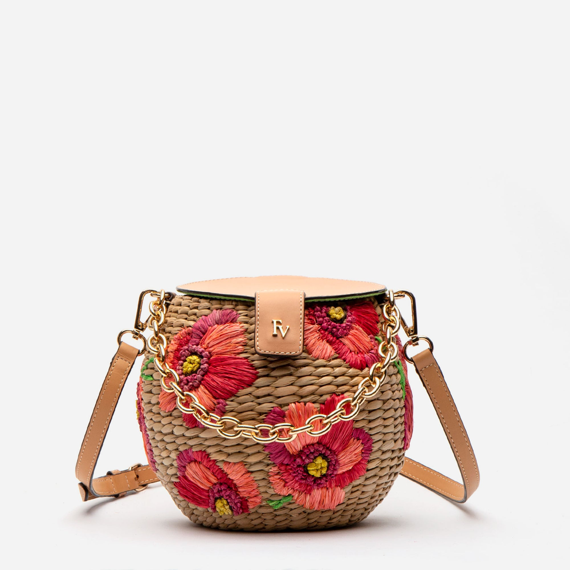 Honeypot Basket Spring Flowers Poppy - Frances Valentine