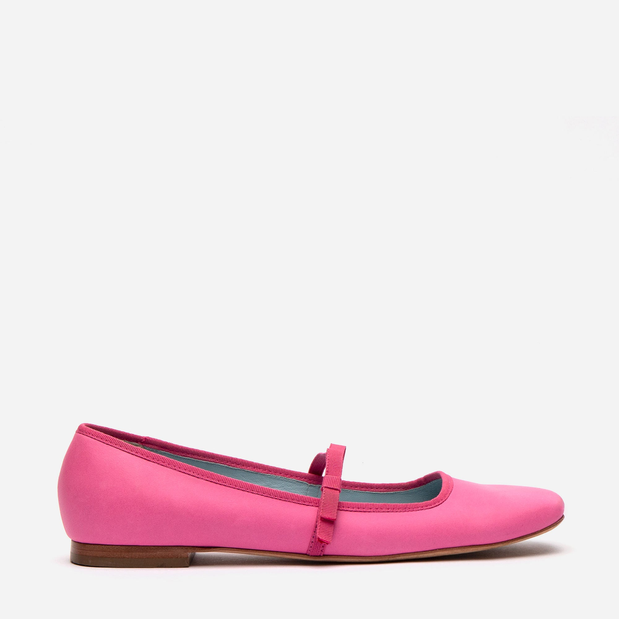 Jude Mary Jane Leather Flats Pink