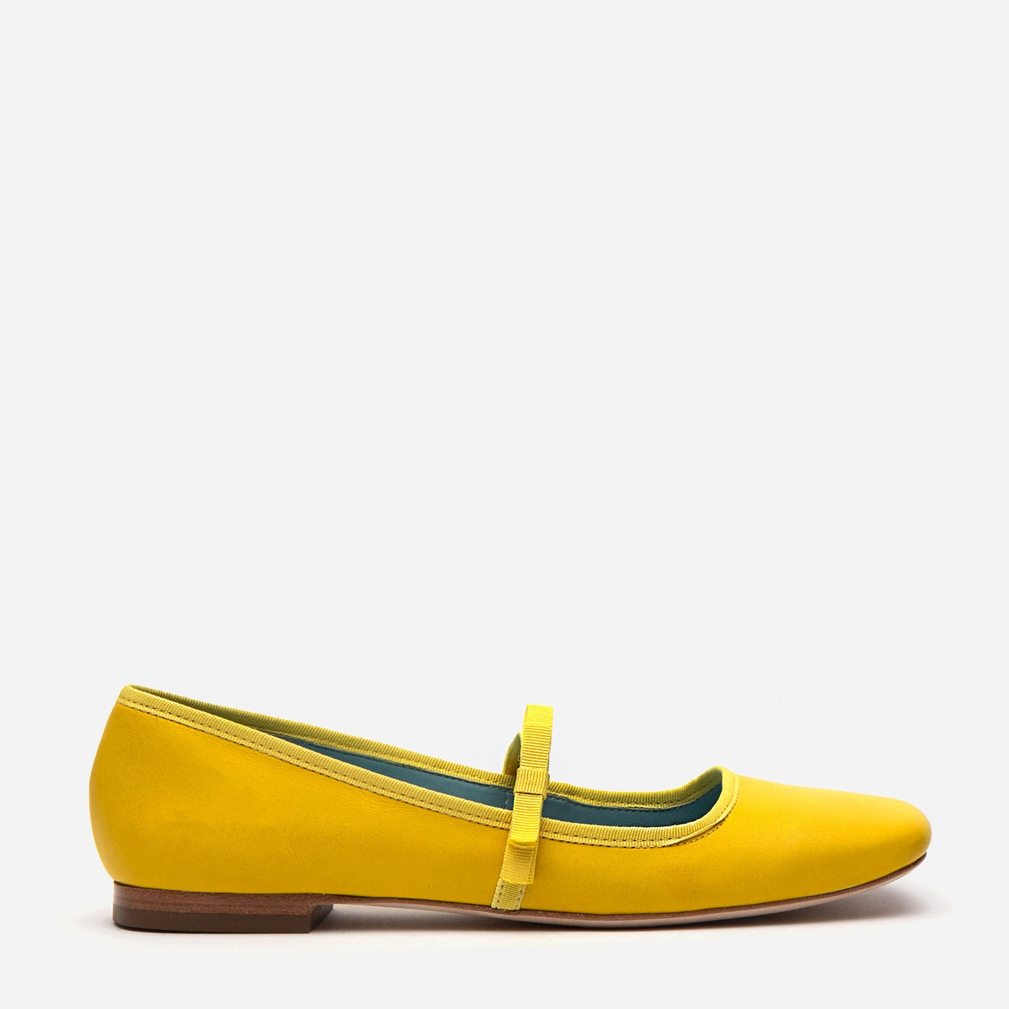 Jude Mary Jane Leather Flat Canary - Frances Valentine