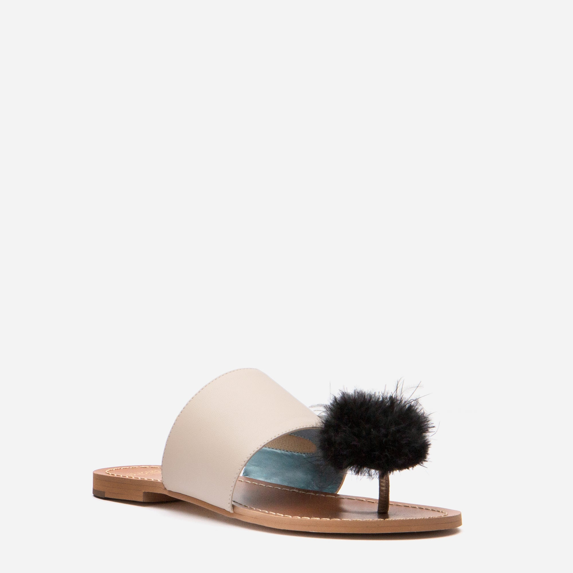 Clementine Pom Pom Sandals Oyster