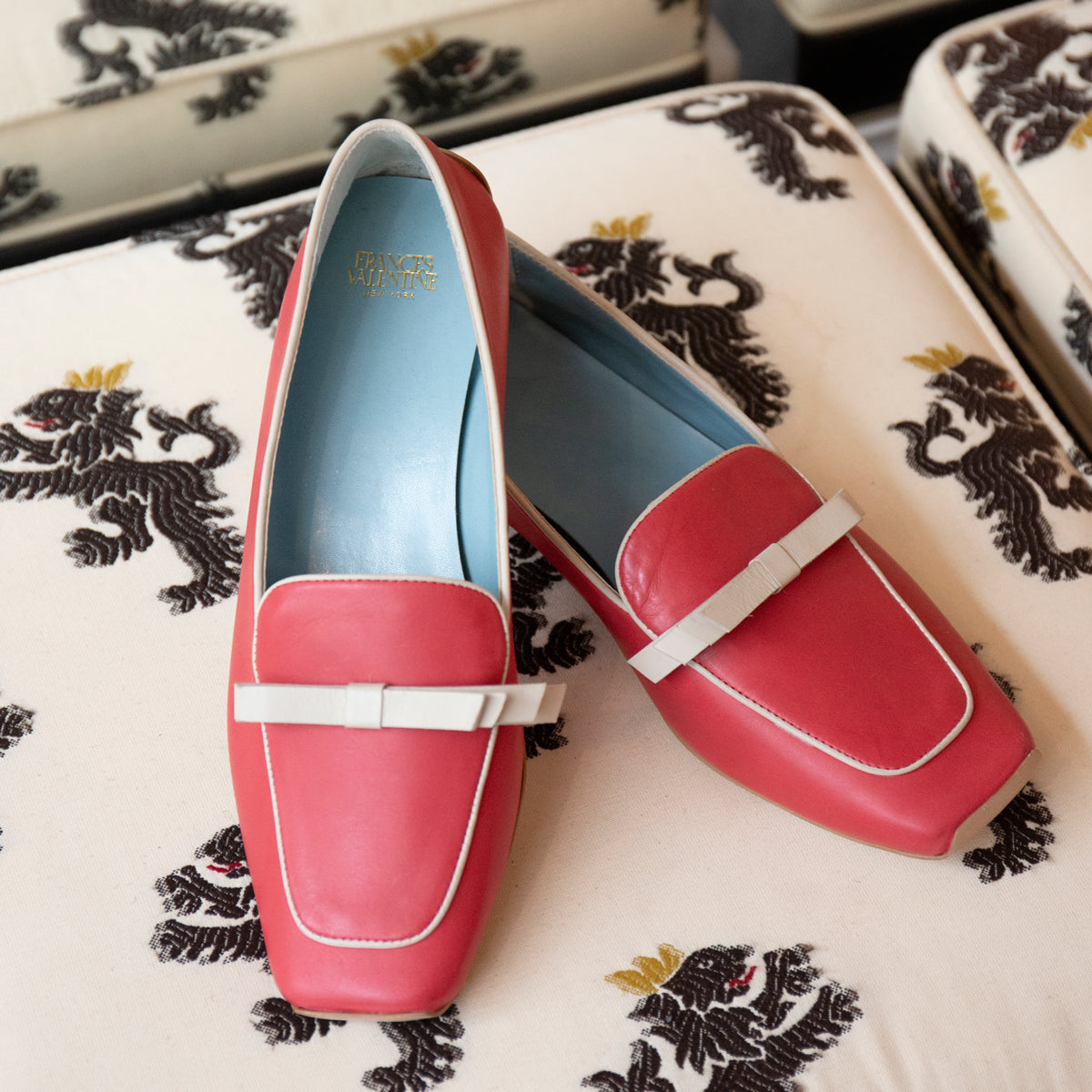 Suzanne Loafer Leather Red Oyster